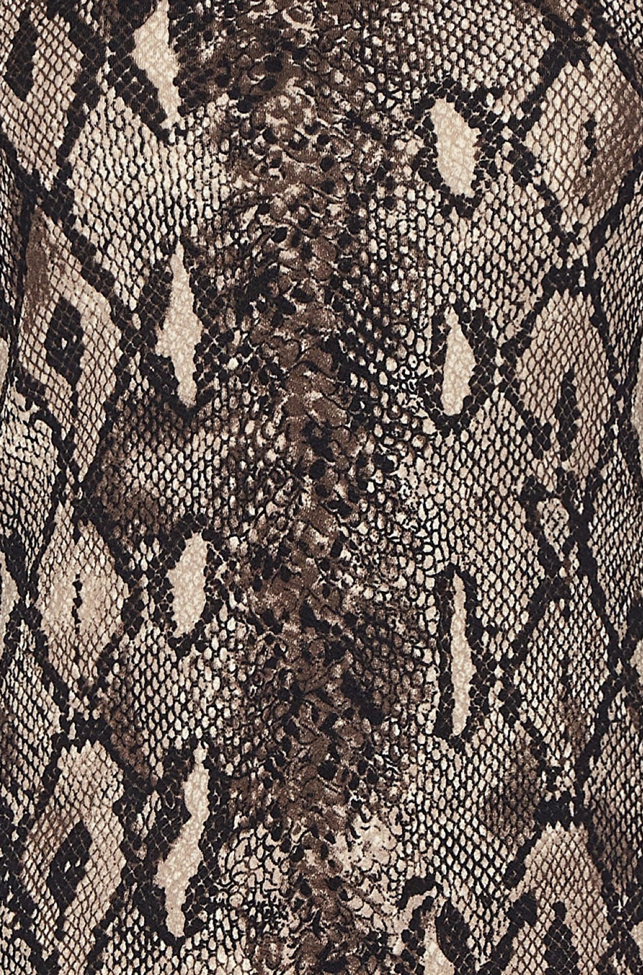 Multi Snakeskin Bodycon Dress