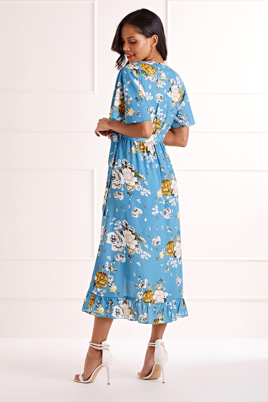 Dipped Hem Maxi Dress