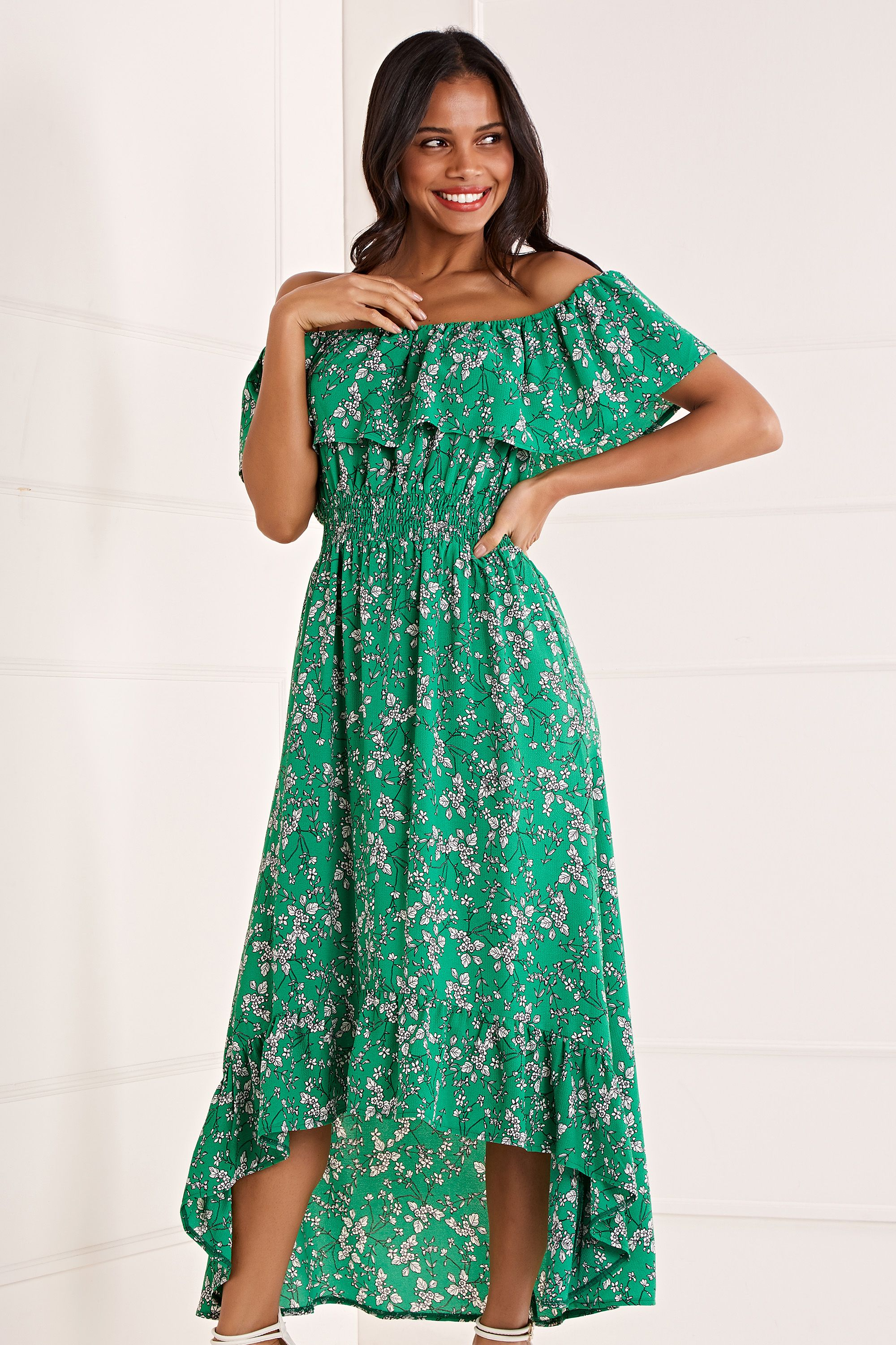 Bardot High Low Maxi Dress