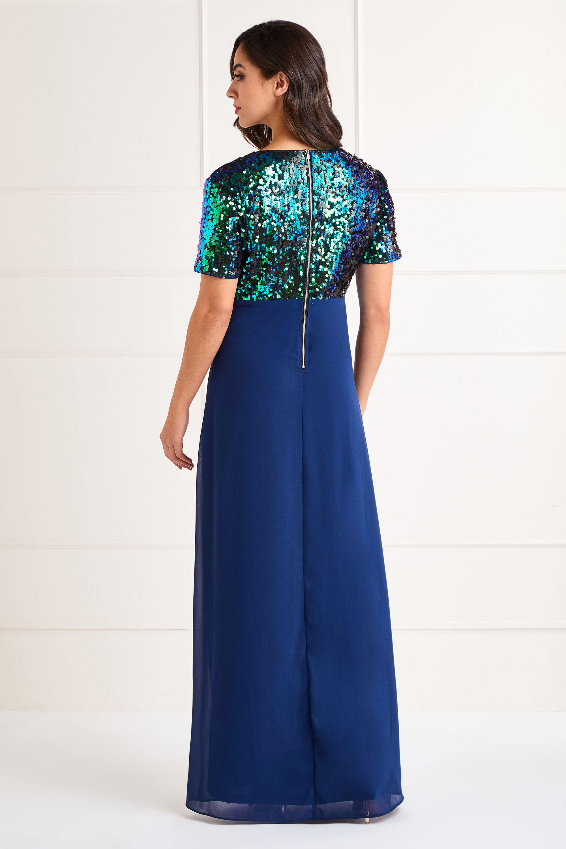Sequin Top Maxi Dress