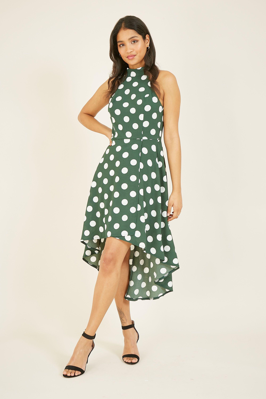 Mela Polka Dot High Low Dress
