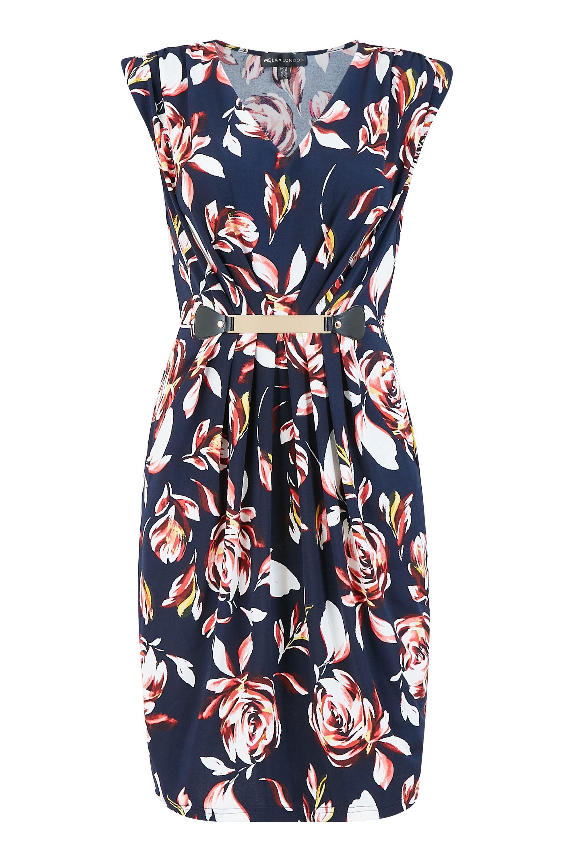 Mela Floral Printed Belted Dress