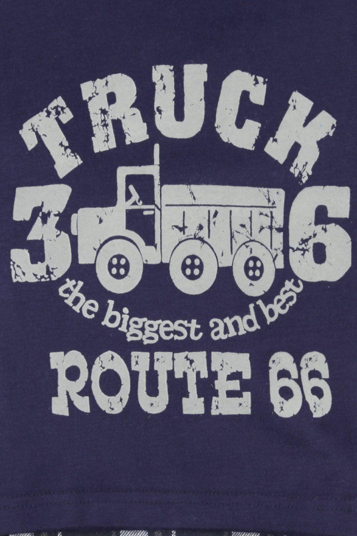 Big Truck Route 66 Boys Navy Pyjamas