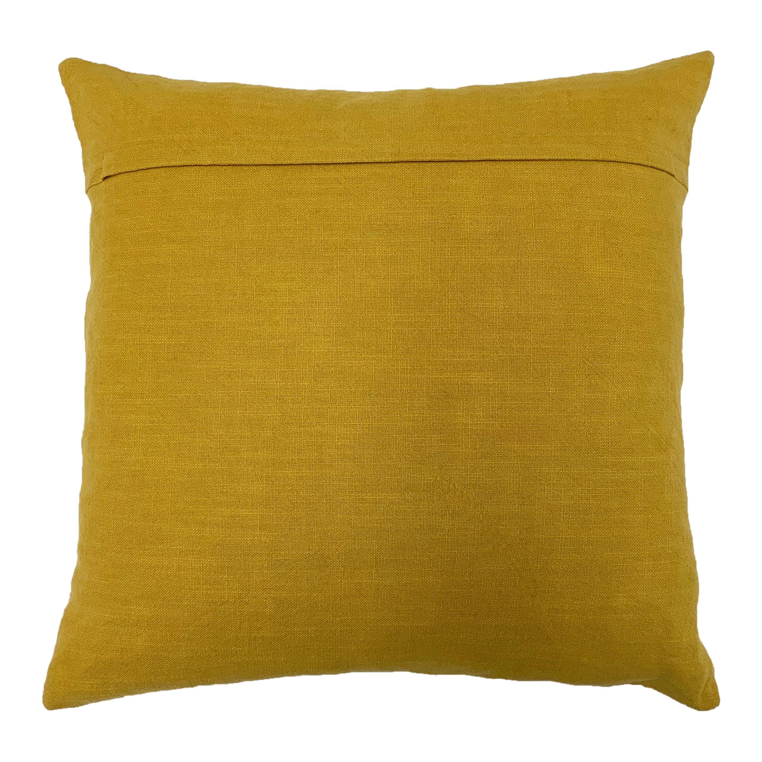 Mandala 45X45 Poly Cushion Ochre