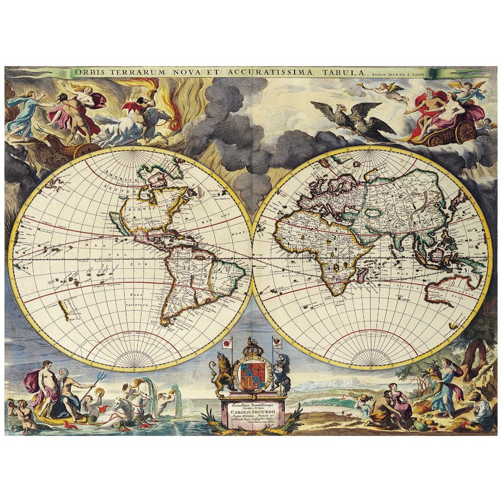 Canvas Print - Old Atlas Map No. 19