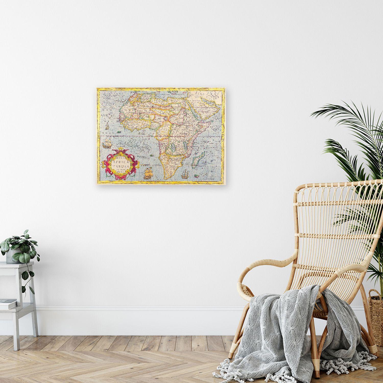 Canvas Print - Old Atlas Map No. 27