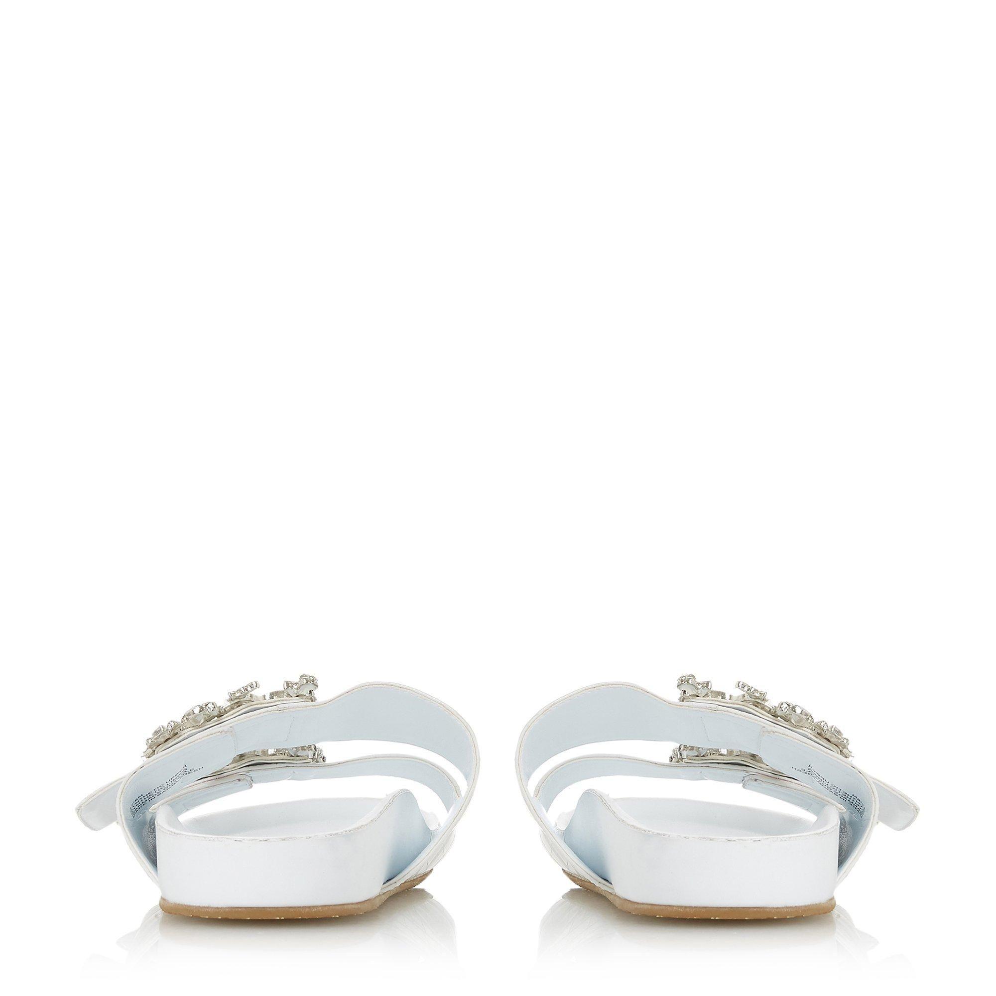 Dune Ladies NASTASIA Double Strap Jewel Slip-On Sandals