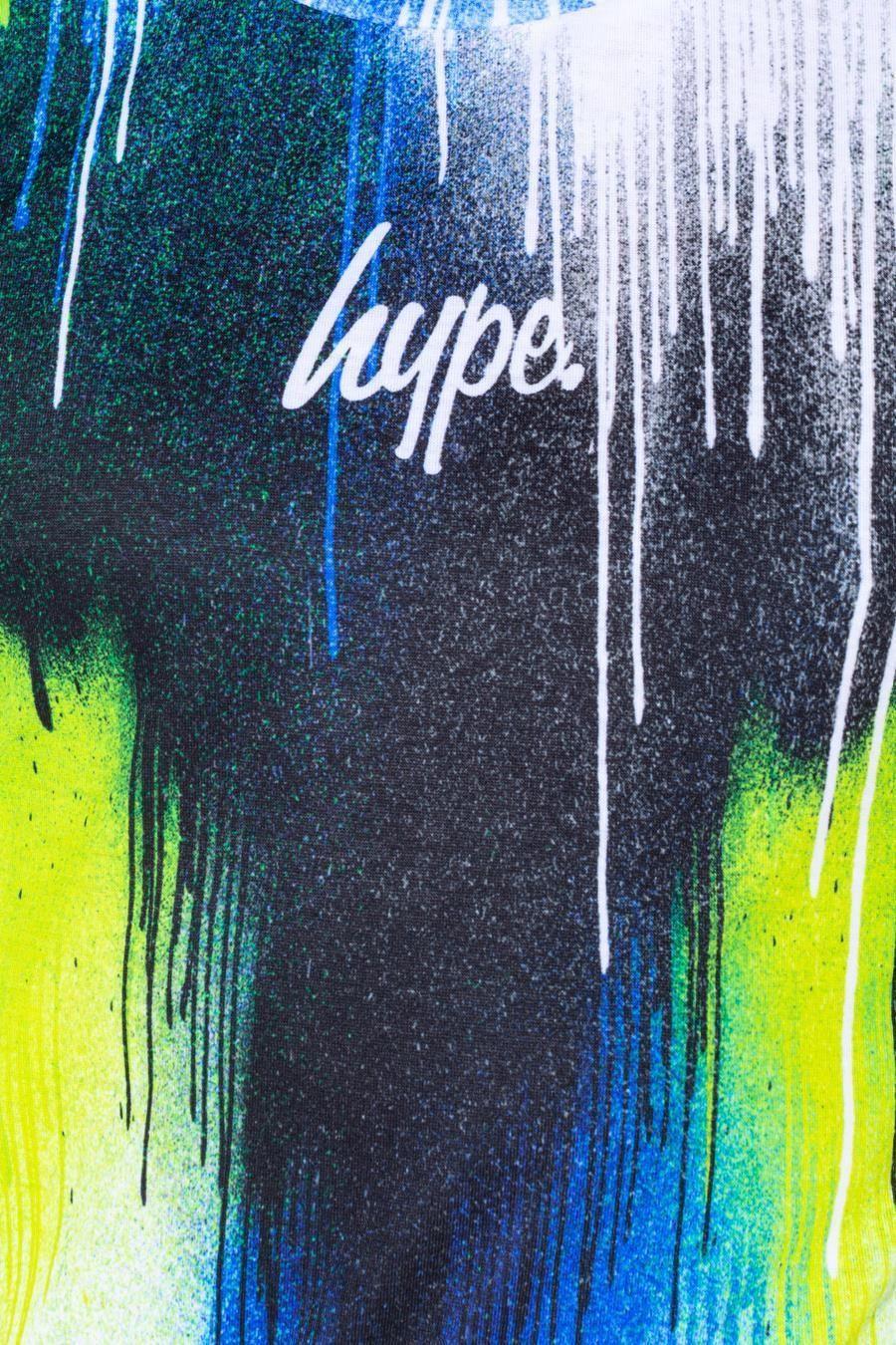 Hype Lime Chevron Drips Kids T-Shirt