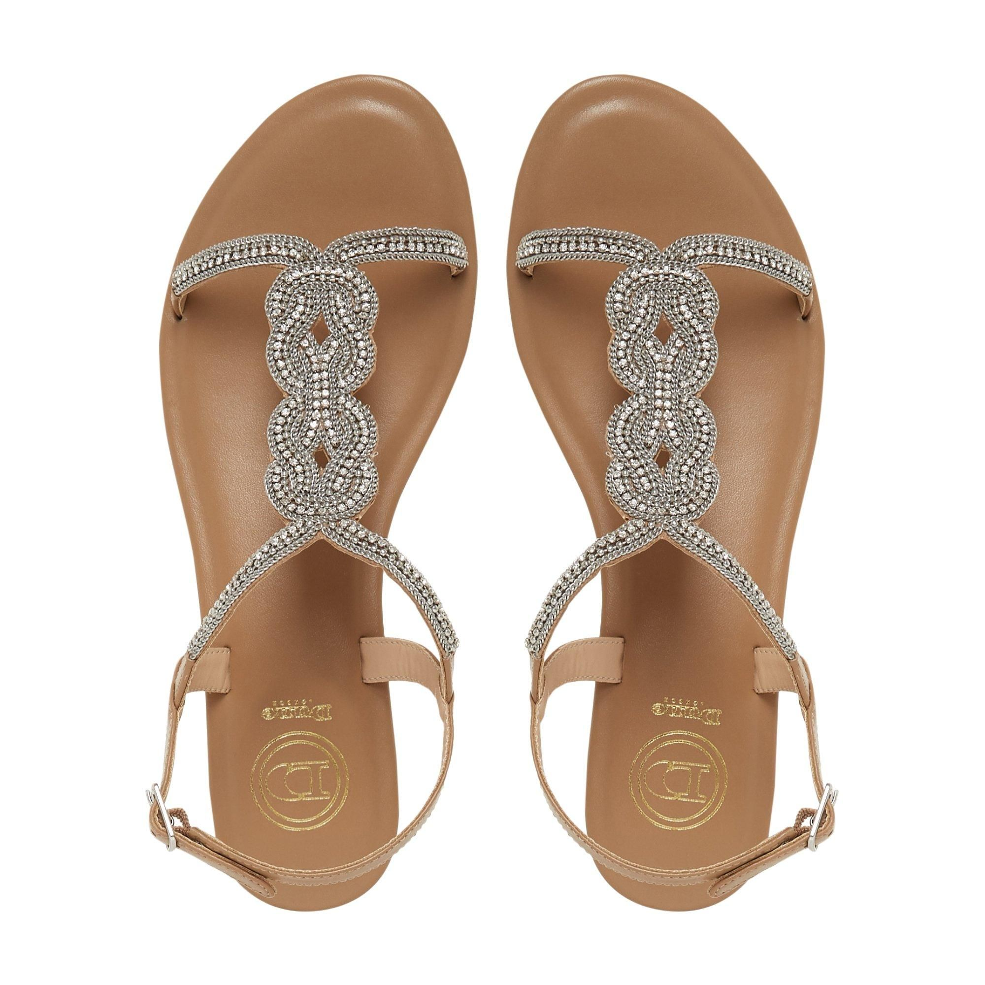 Dune Ladies NETTYS Embellished T-Bar Sandals