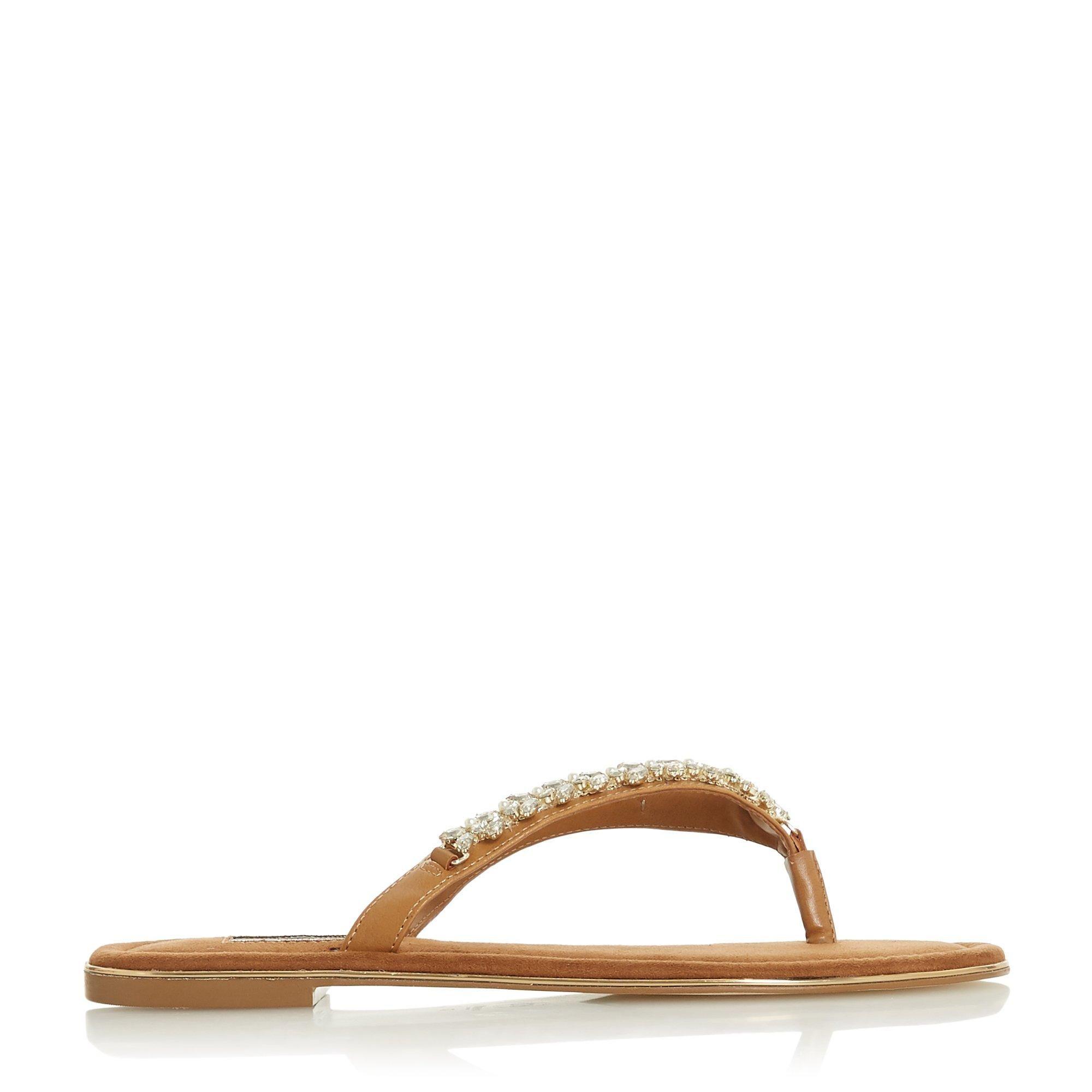 Dune Ladies NEWBEYS  Embellished Flat Sandals