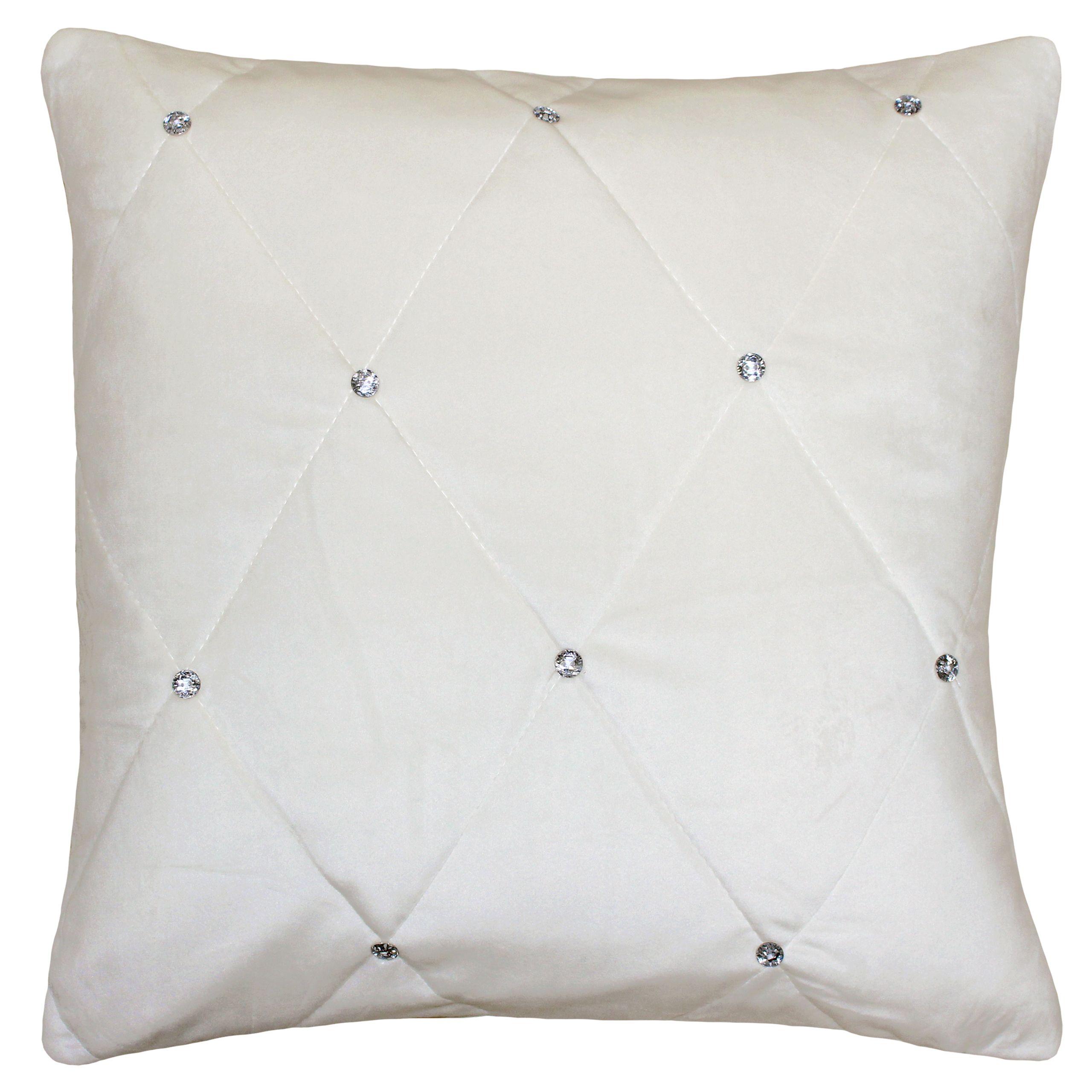 New Diamante Poly Cushion 55X55 Cre