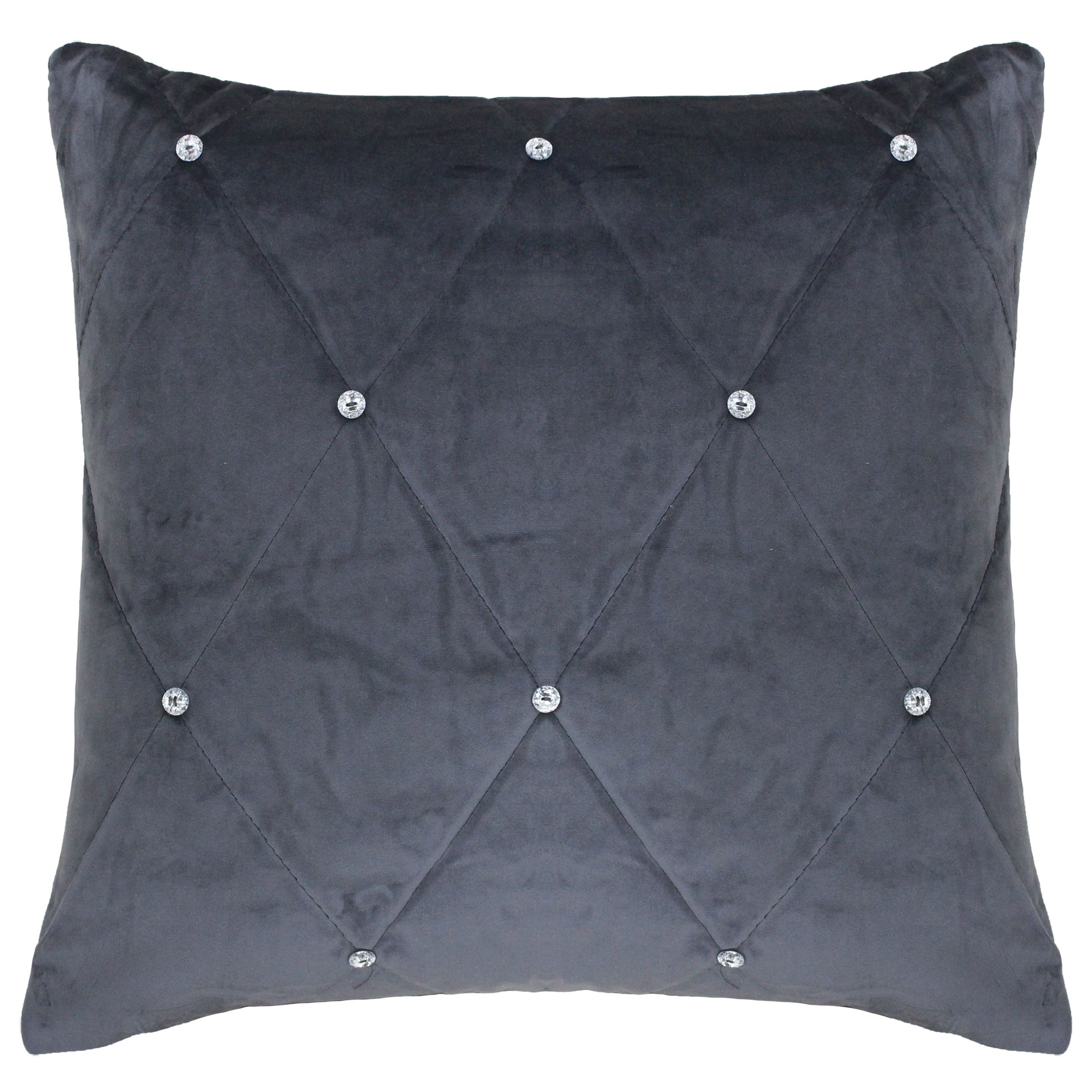 New Diamante Poly Cushion 55X55 Pwt