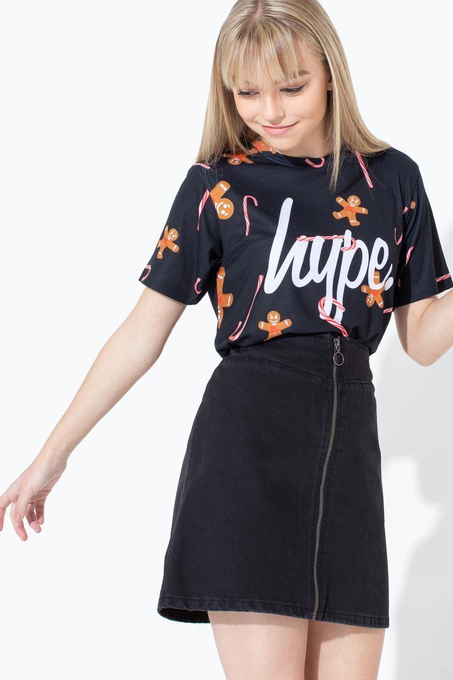 Gingerbread Cane Script Kids T-Shirt