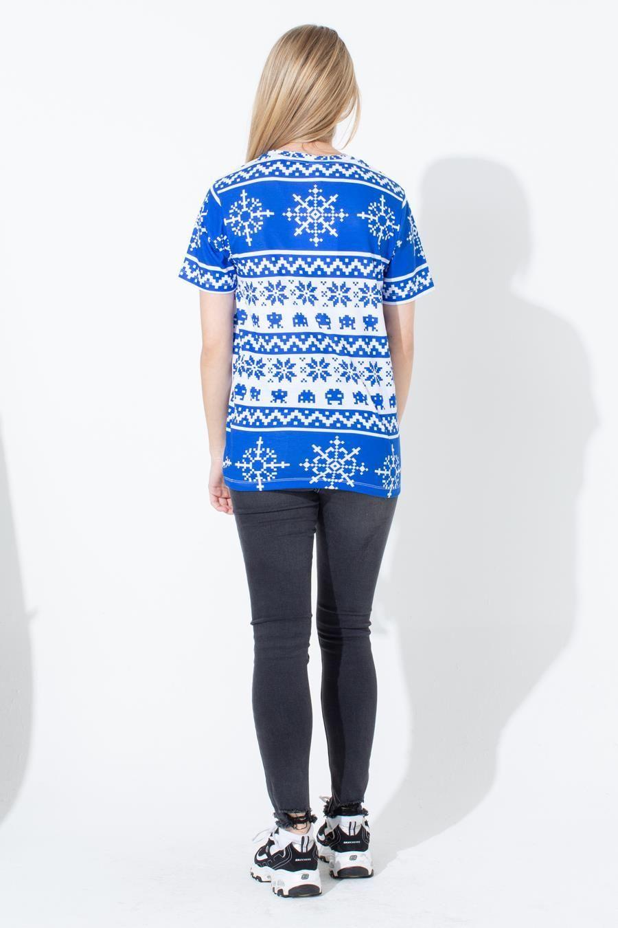 Blue Fairisle Kids T-Shirt