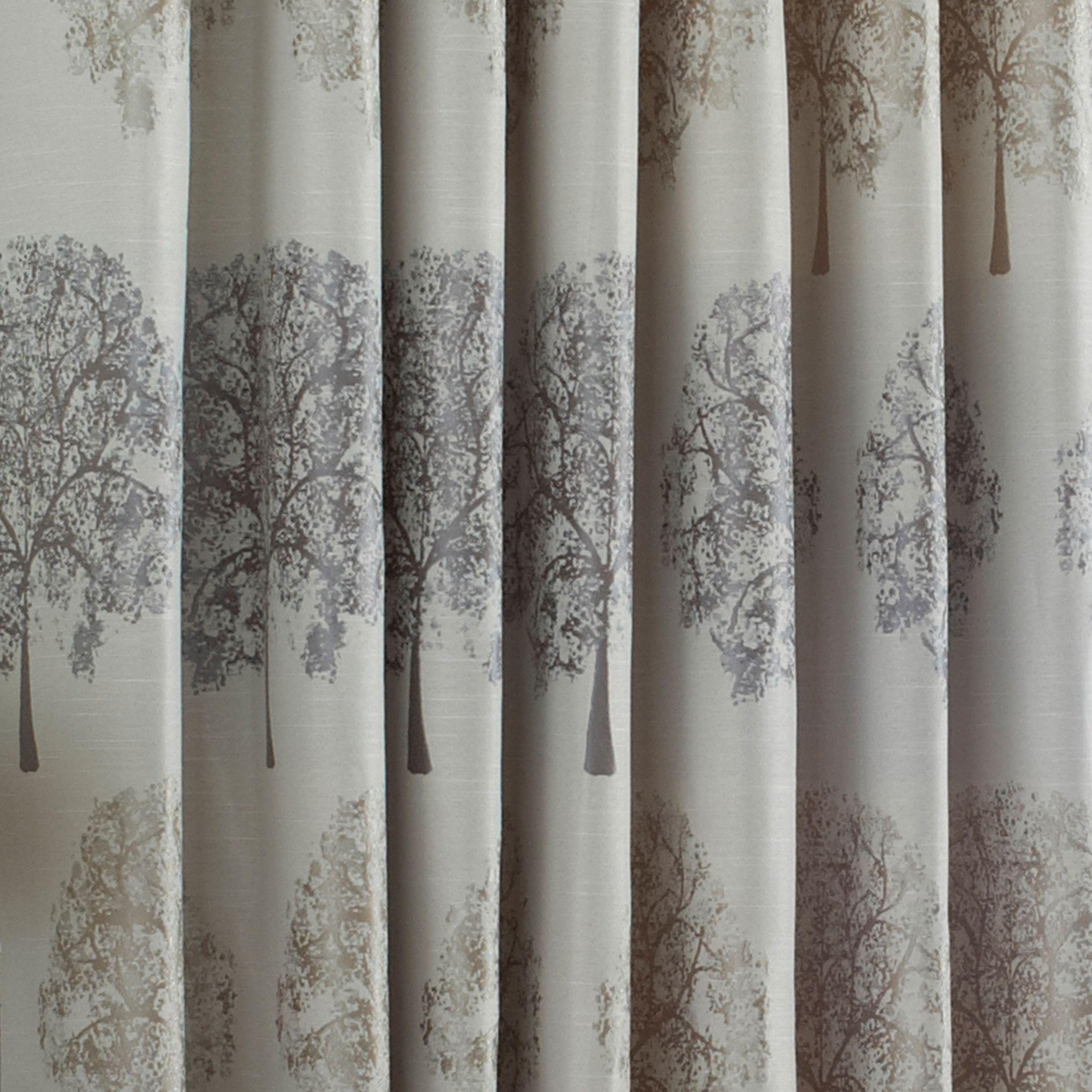 Oakdale Tree Motif Eyelet Curtains in Silver