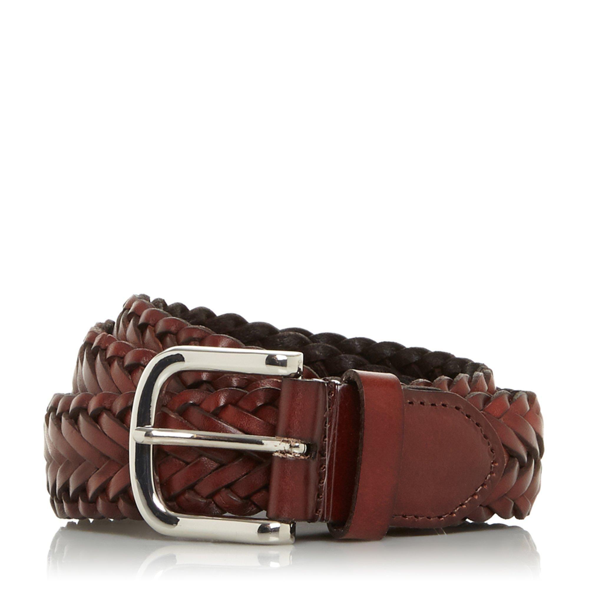 Dune Mens ORDINER Hand Woven Leather Belt