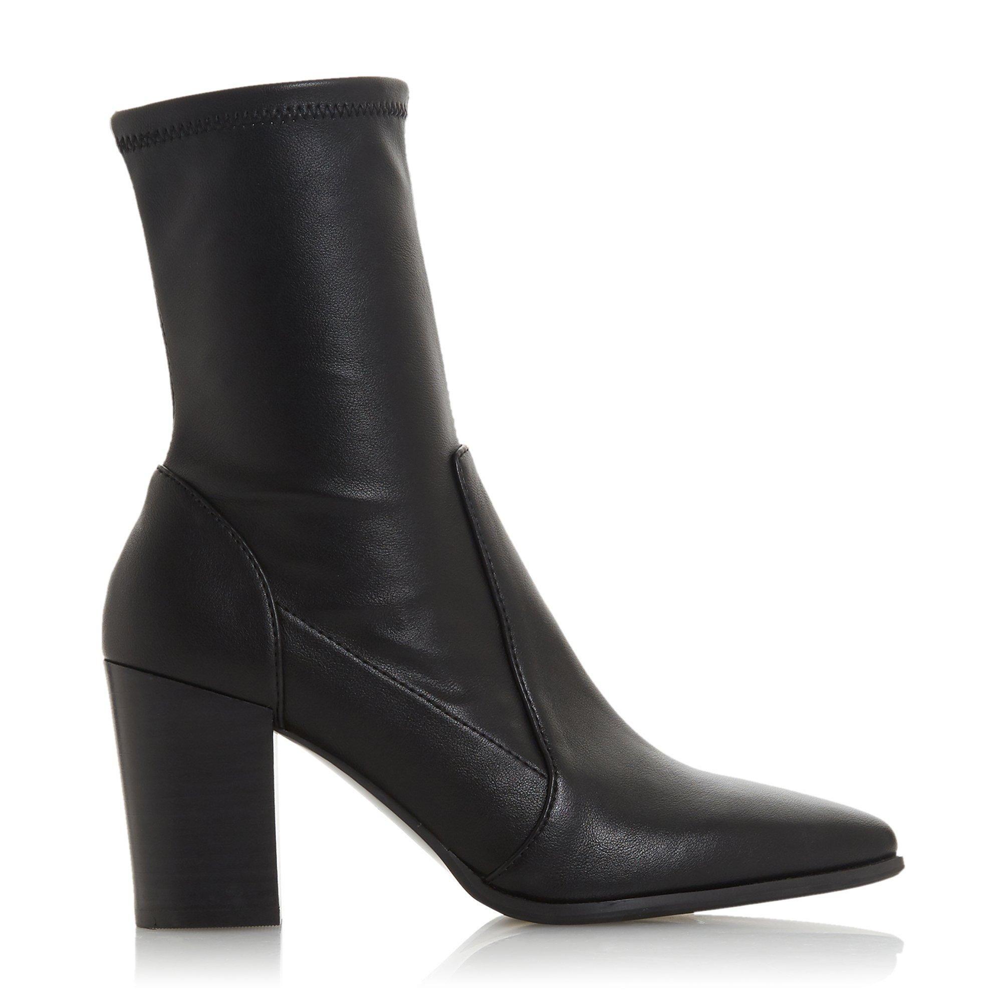 Dune Ladies OSTENE Stretch High Block Heel Ankle Boots