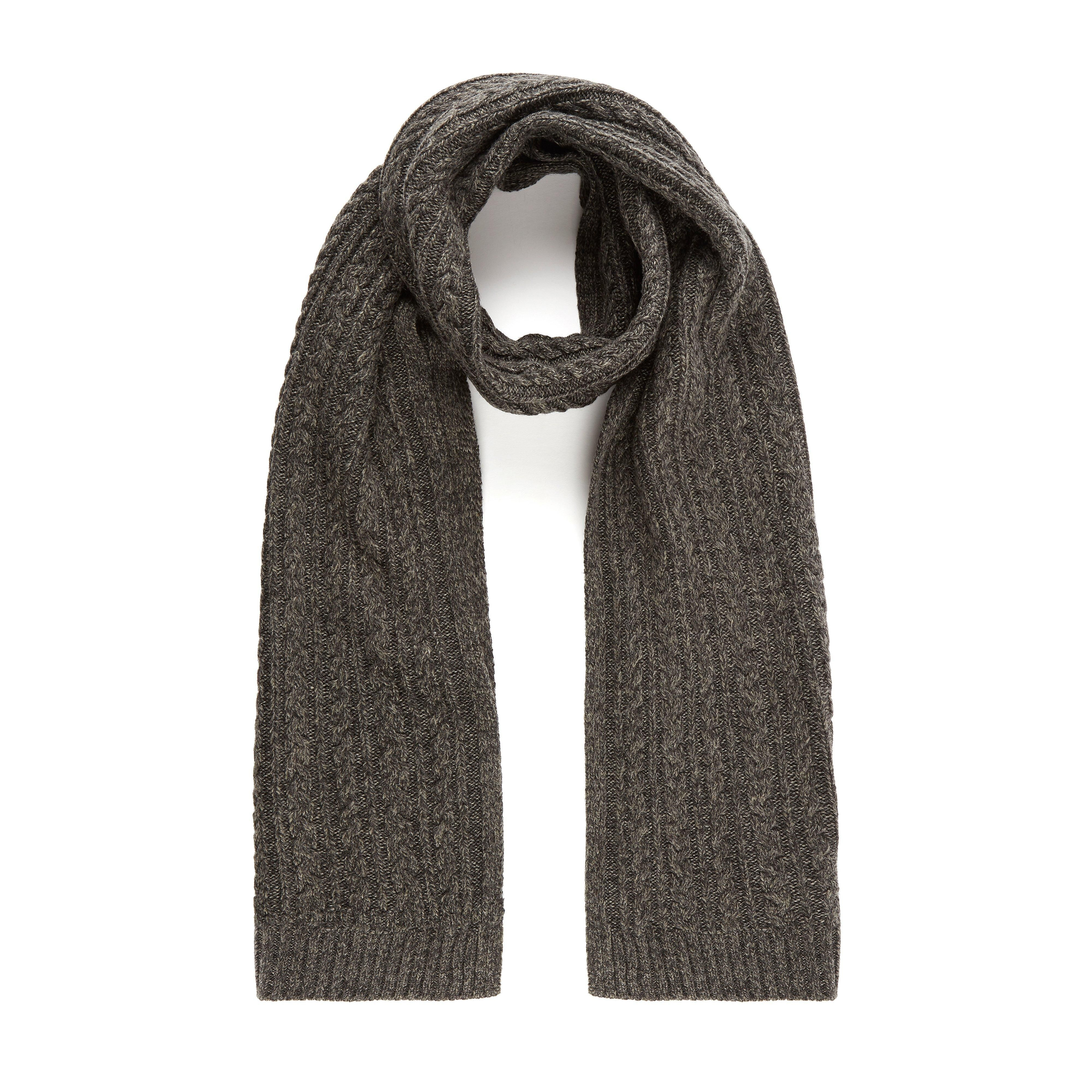 Dune Mens OTTTO Cable Knit Scarf