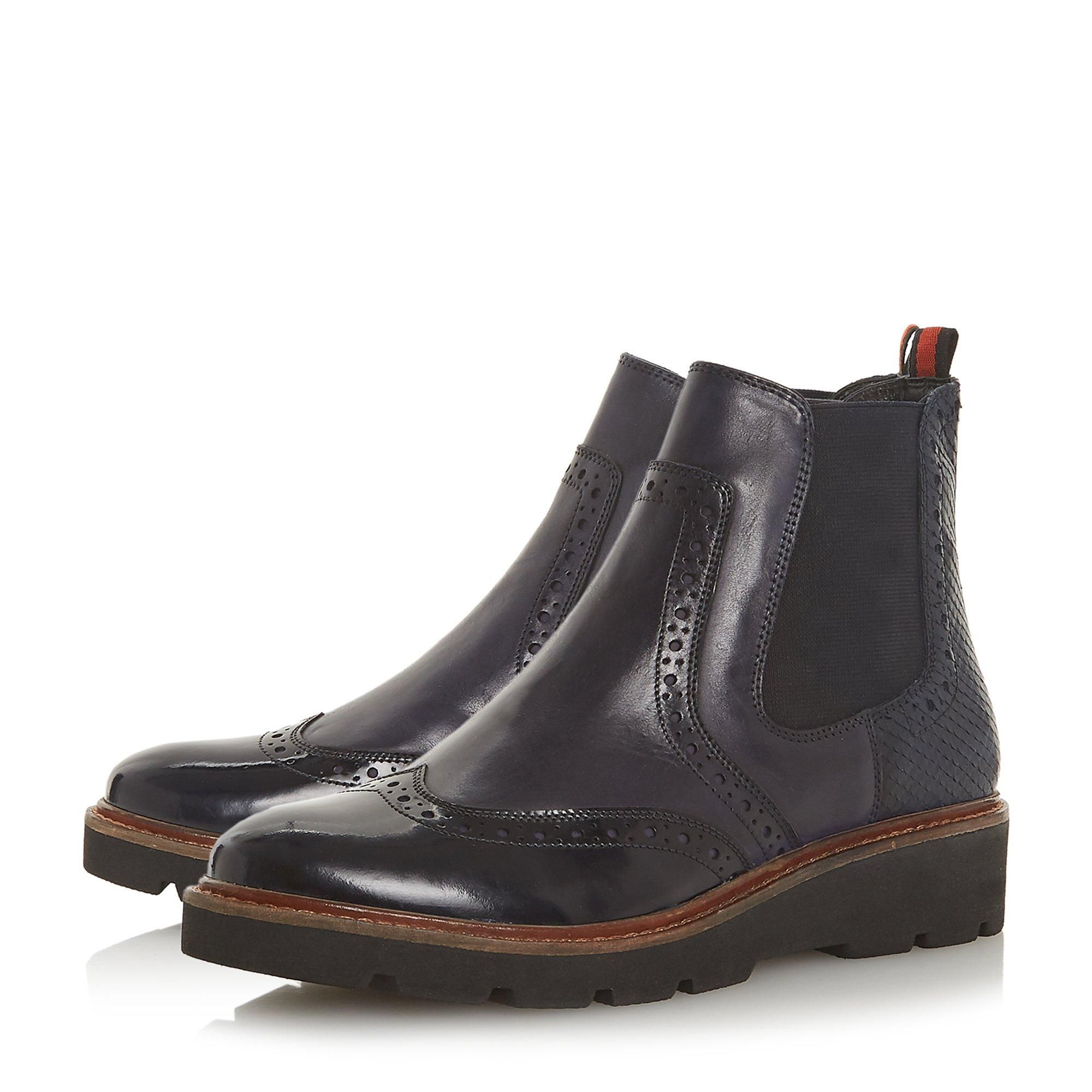 Dune Ladies PALOMO Punched Chelsea Ankle Boots