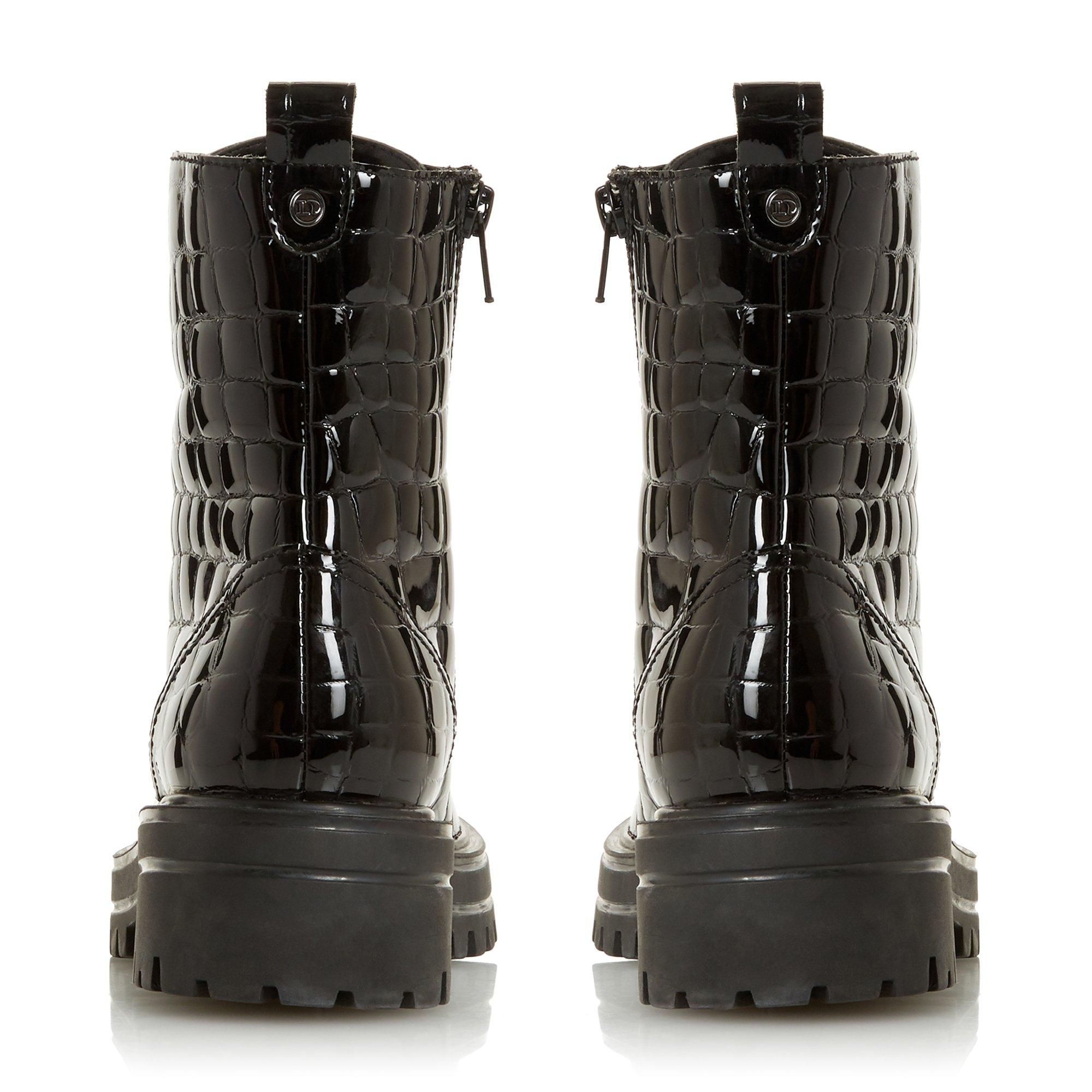Dune Ladies PAMA Cleated Sole Biker Boots
