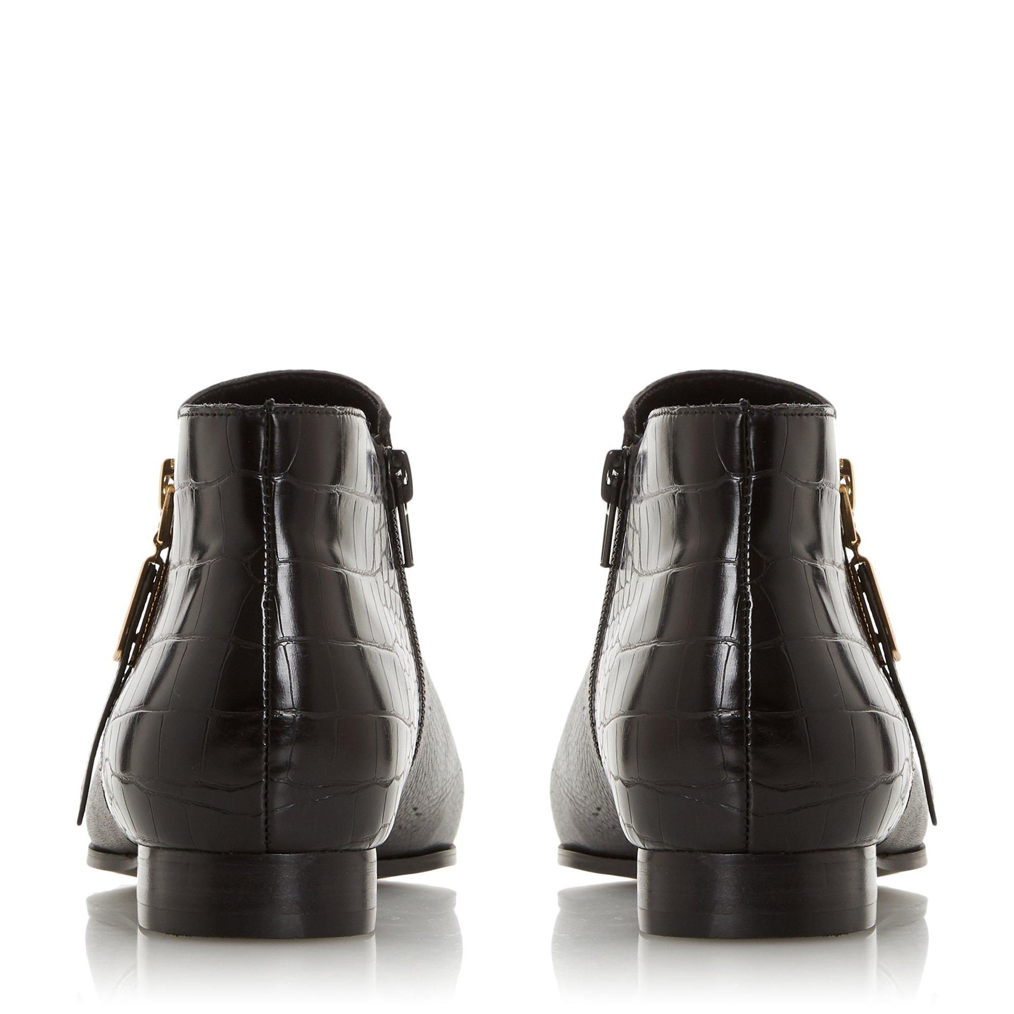 Dune Ladies PANDAN Side Zip Ankle Boots