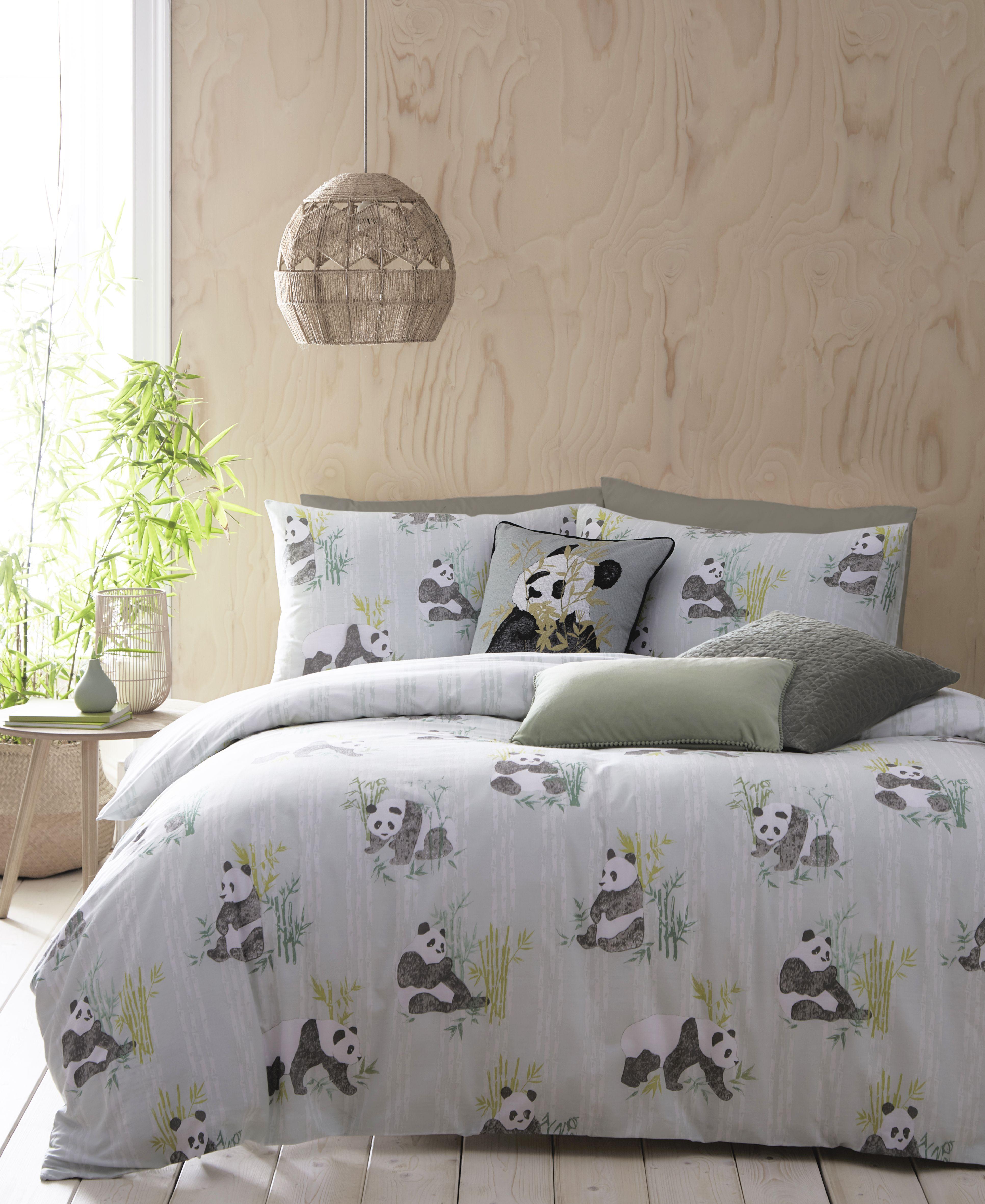 Pandas Duvet Set Mint