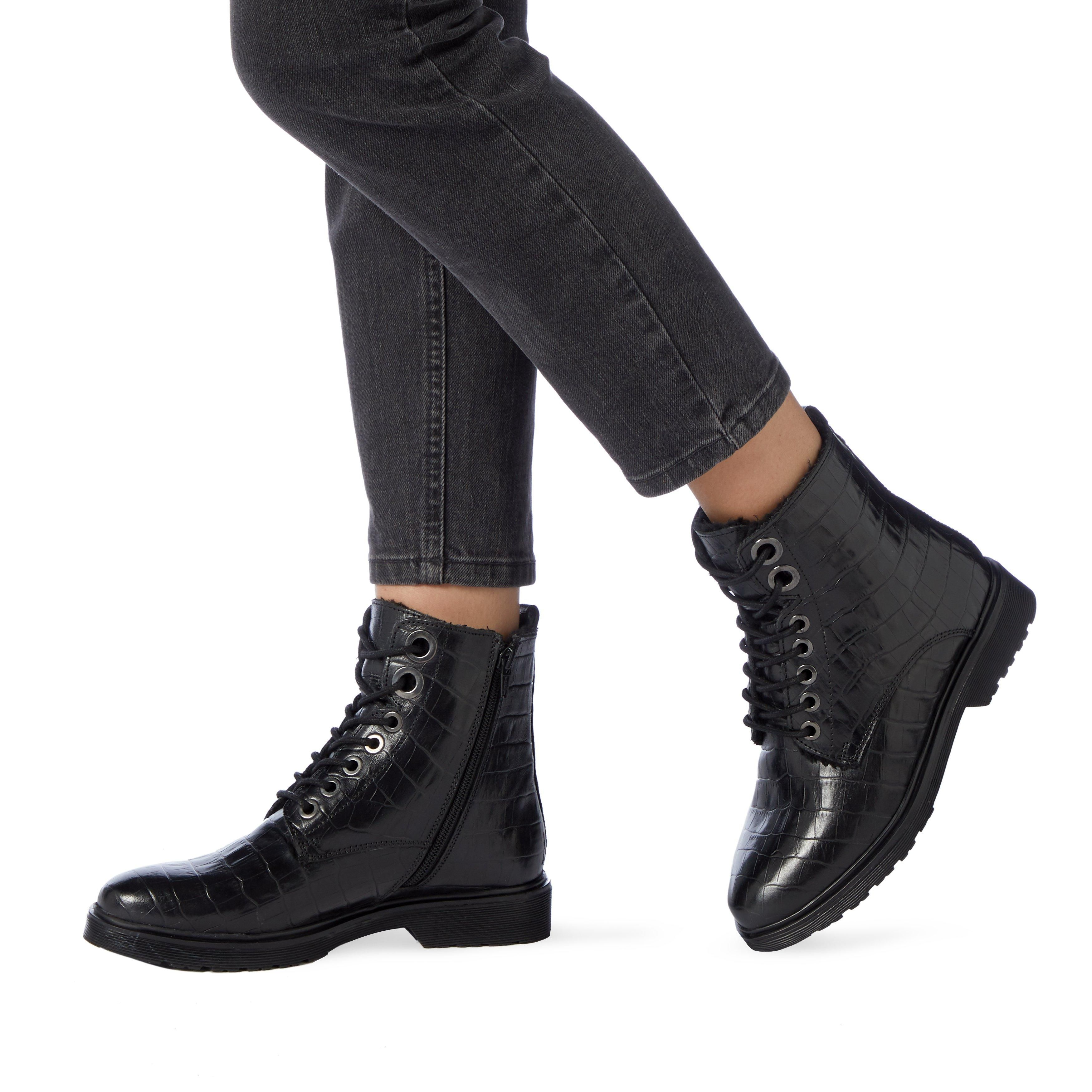 Dune Ladies PARKLAND Faux Shearling Lined Hiker Boots
