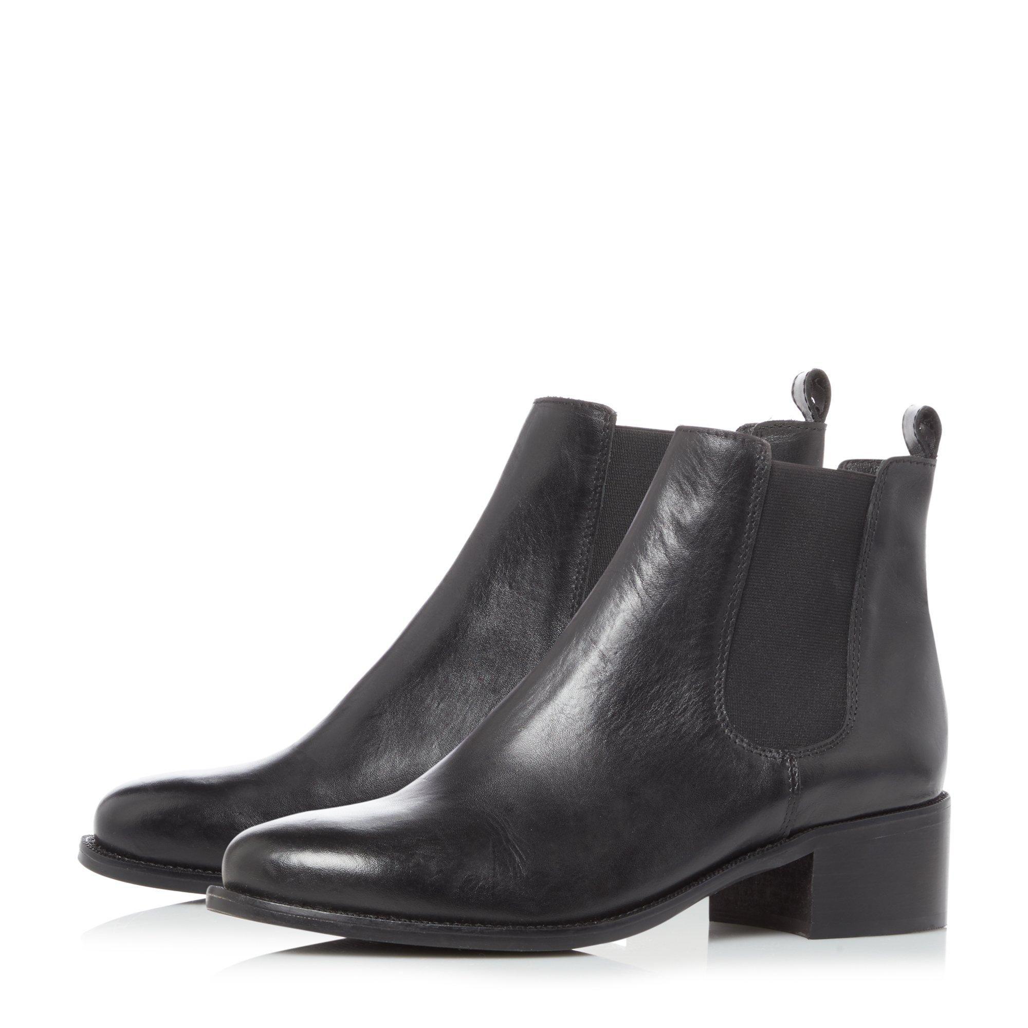 Dune Ladies PATROLE Low Block Heel Chelsea Boots