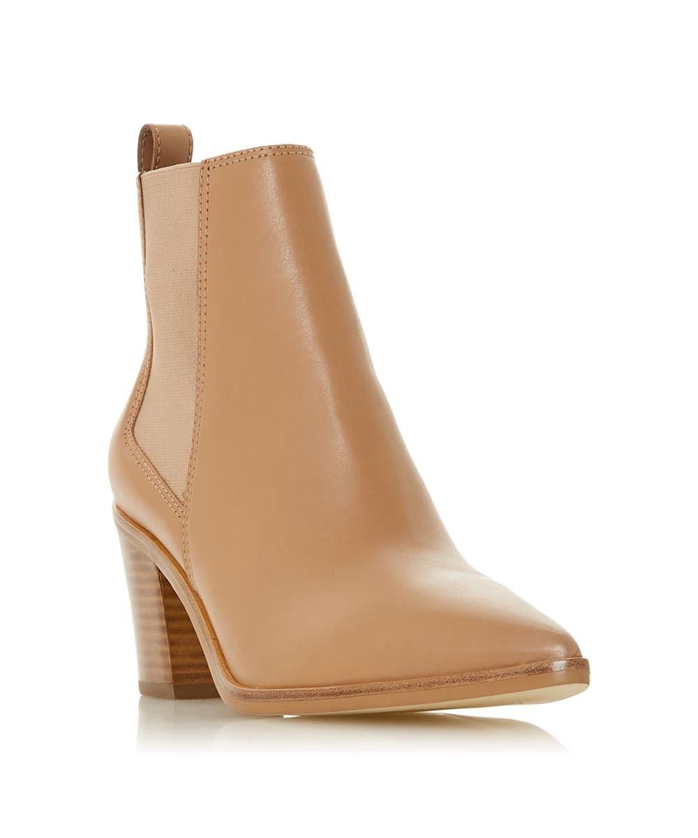 Dune Ladies PERMIT Block Heel Pointed Chelsea Boots