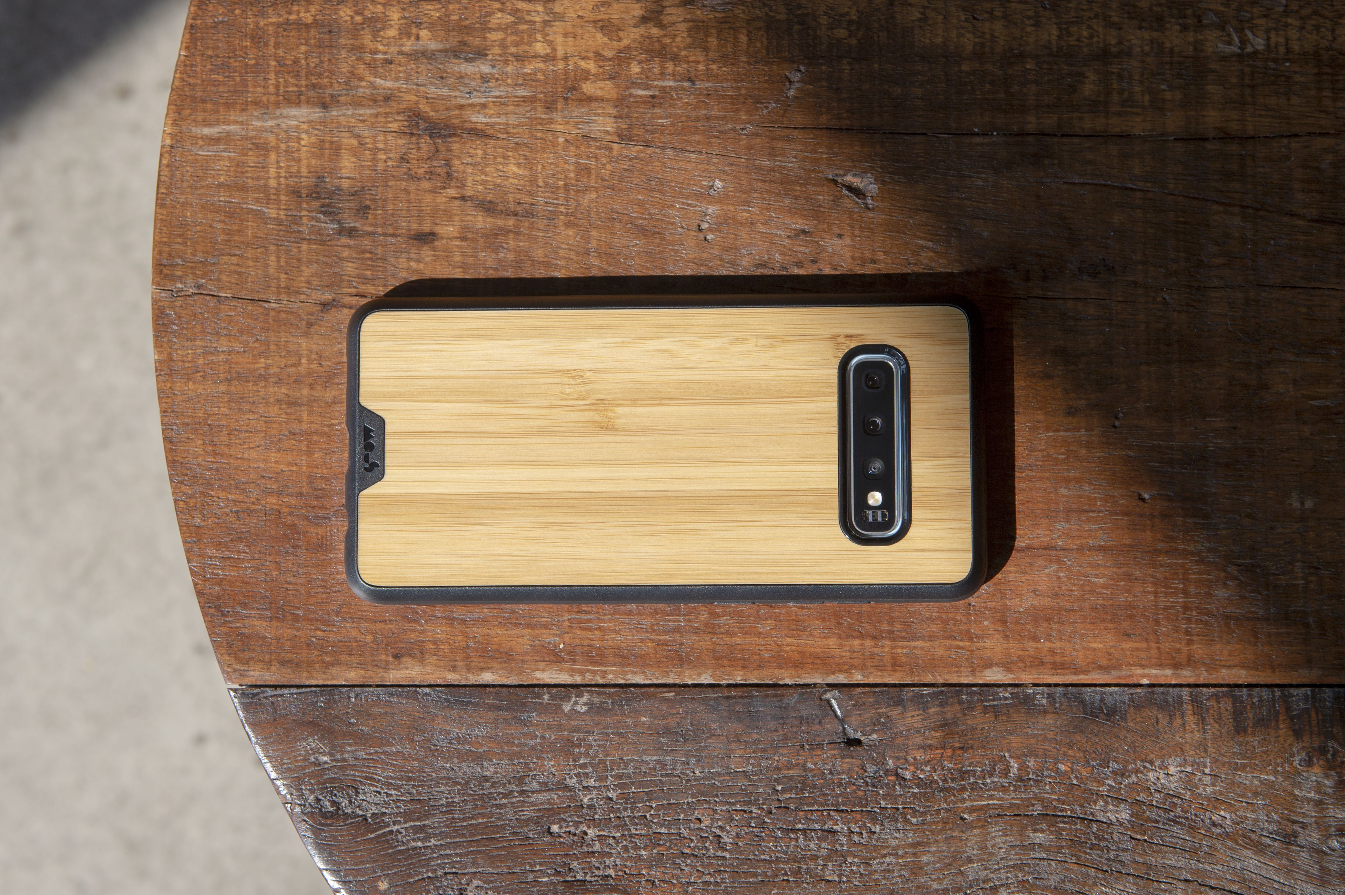 Mous - Protective Case for Samsung Galaxy S10 - Limitless 2.0 - Bamboo - No Screen Protector