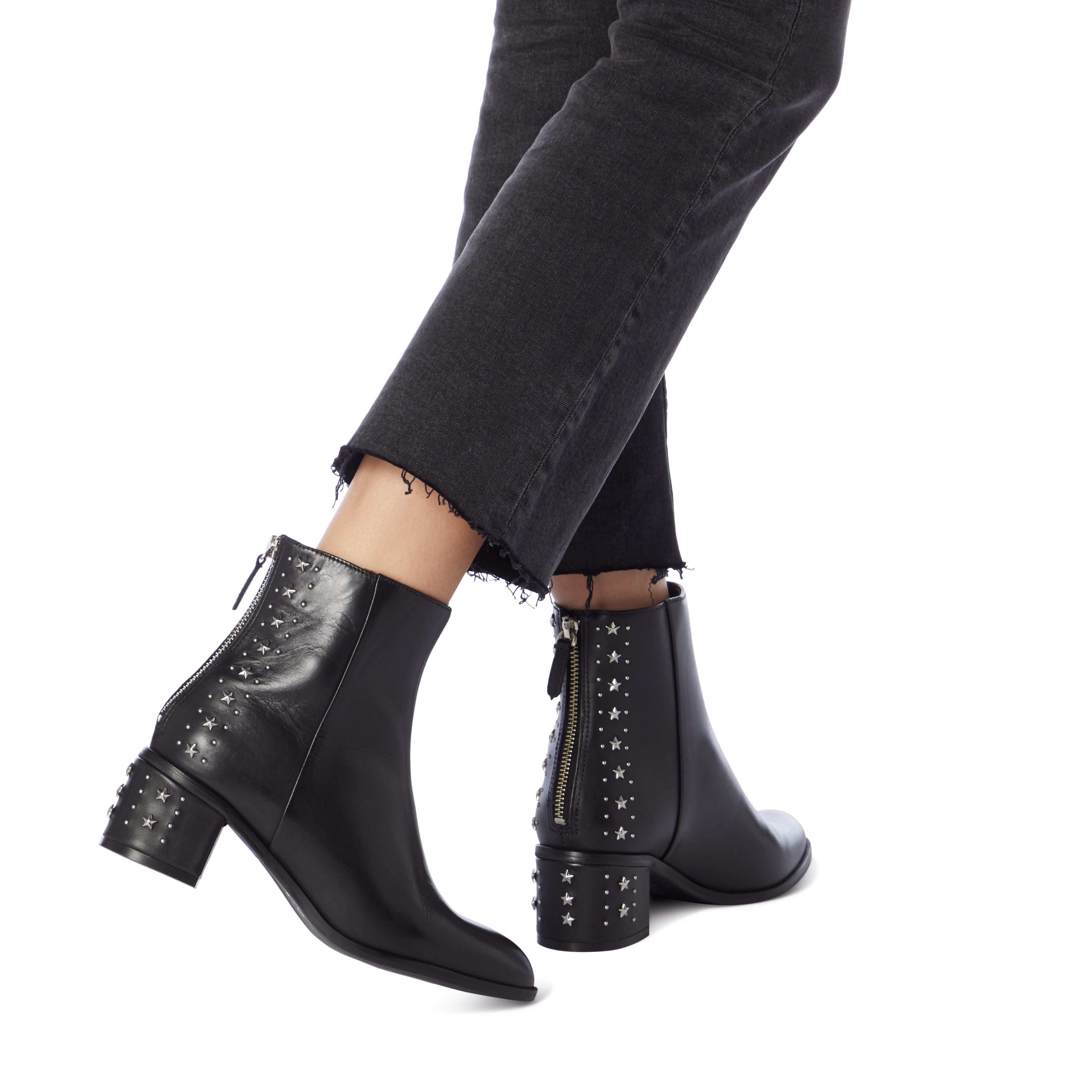 Dune Ladies PINO Embellished Block Heel Ankle Boots