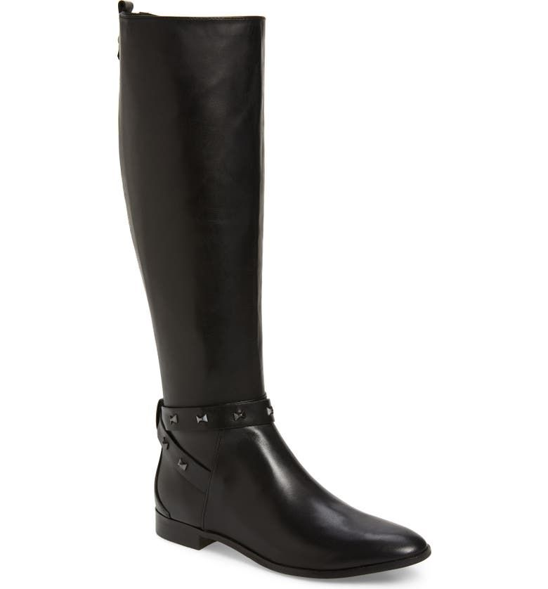 Ted Baker Plannia Bow Detail Strap High Boot in Black