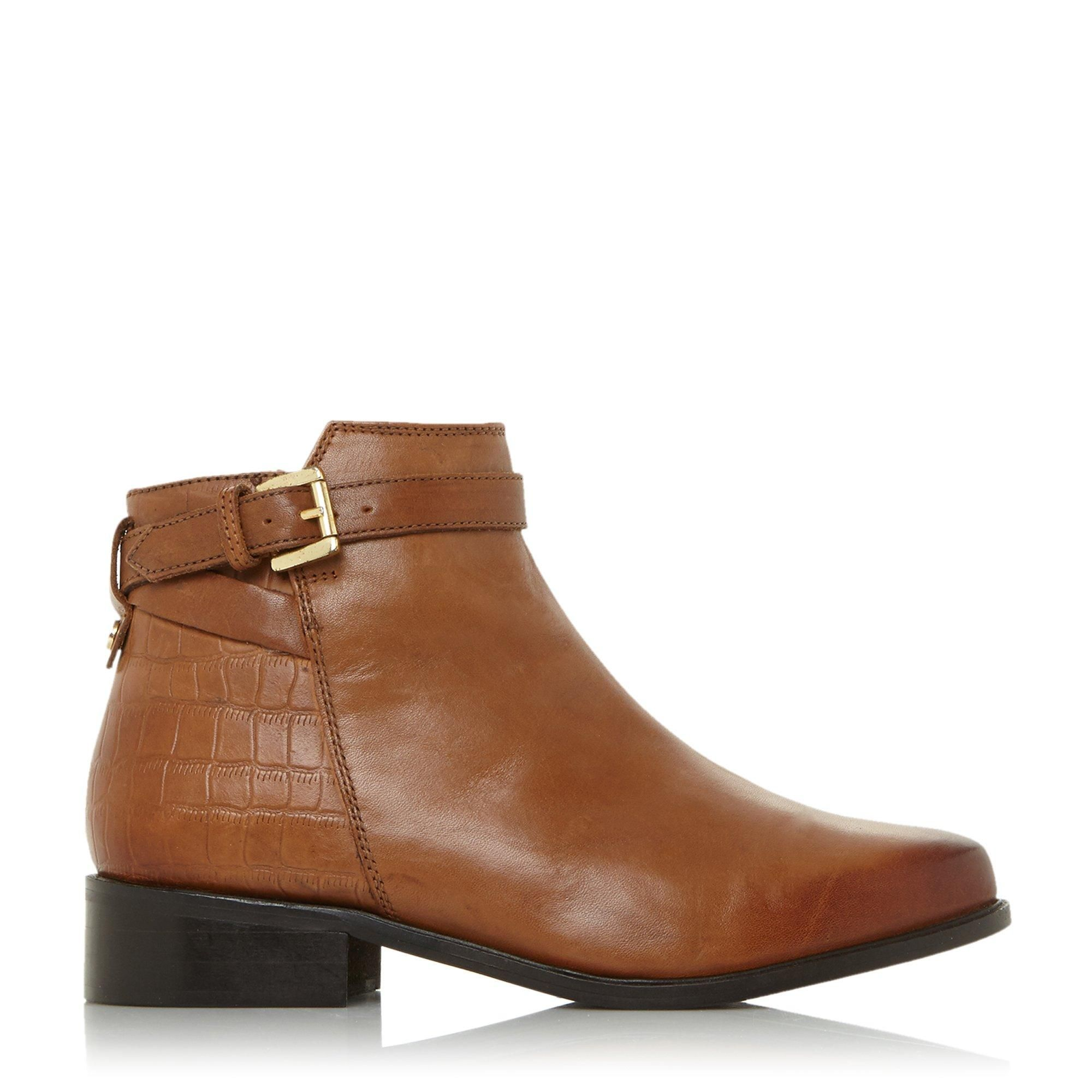 Dune Ladies POPPY Buckle Detail Side Zip Ankle Boots