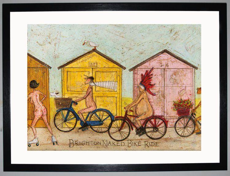 Brighton Naked Bike Ride by Sam Toft