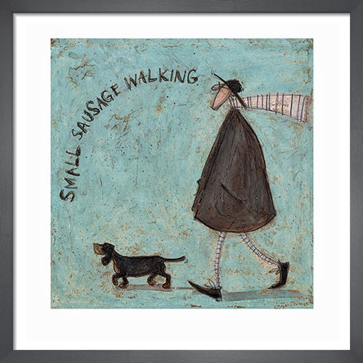 Small Sausage Walking by Sam Toft