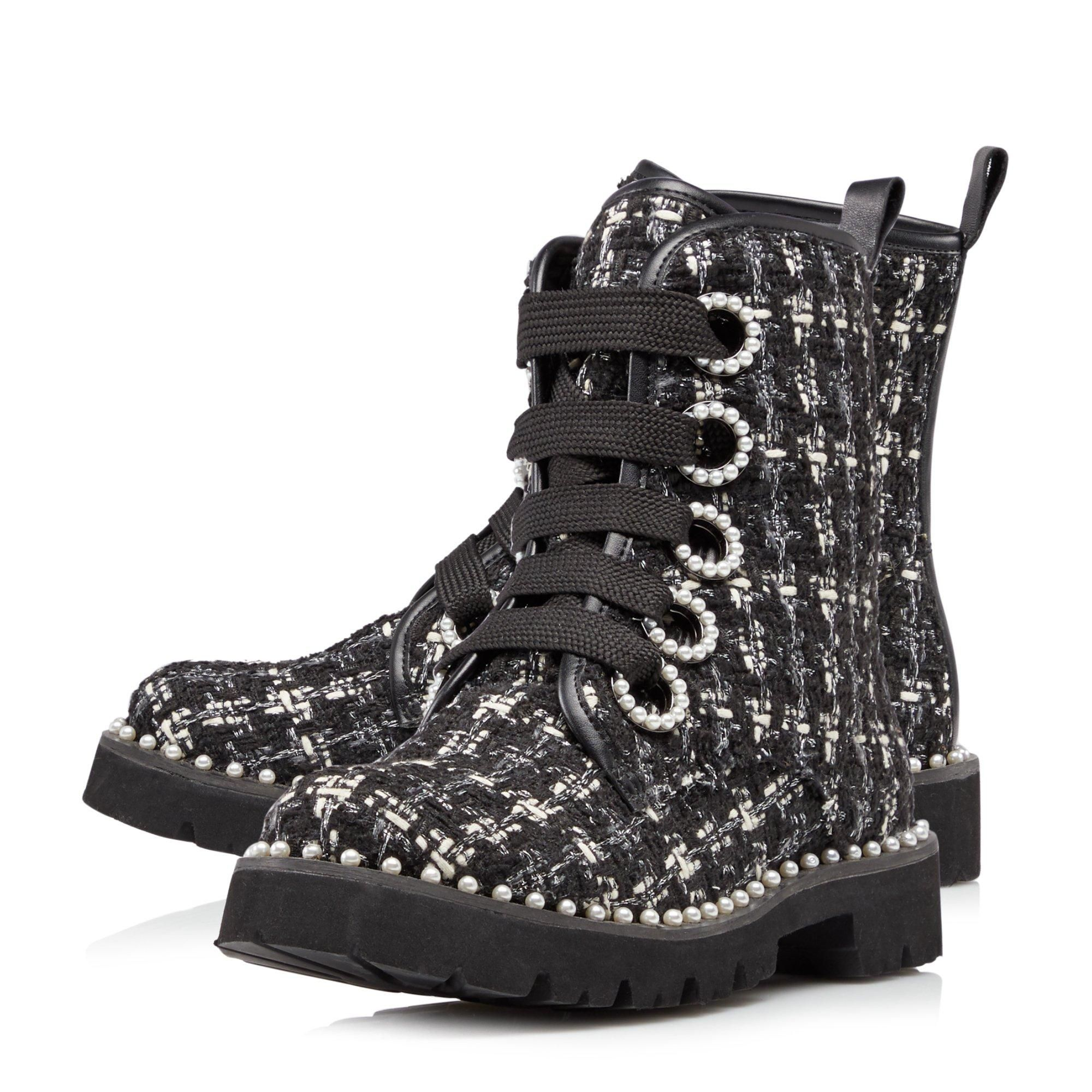 Dune Ladies PURLA Pearl Detail Ankle Boots