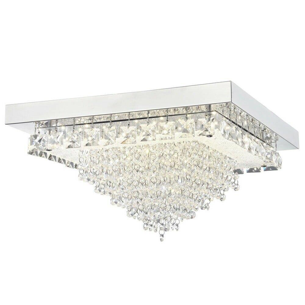 Auden LED Large Square Semi-Flush Ceiling Light
