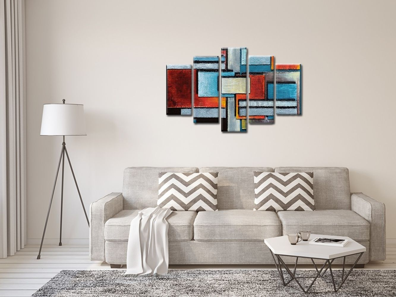 Canvas Print - Abstract Walls Cm. 150x100 (5 Panels)