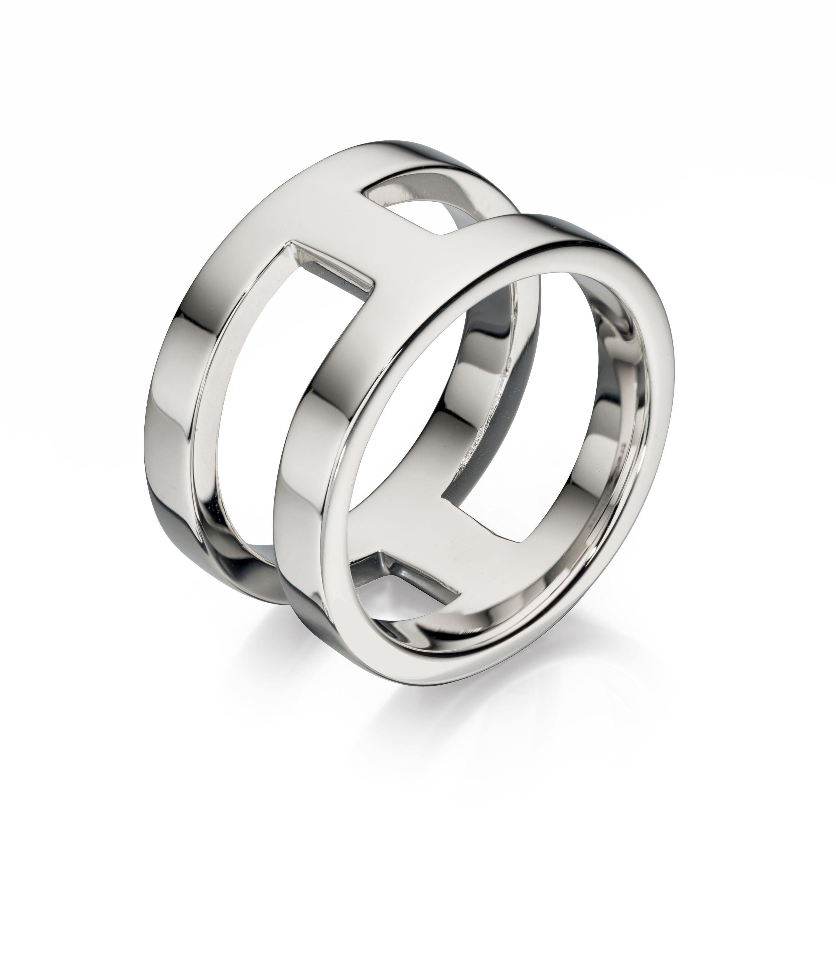 Fred Bennett Mens 925 Sterling Silver Open Band Design Ring