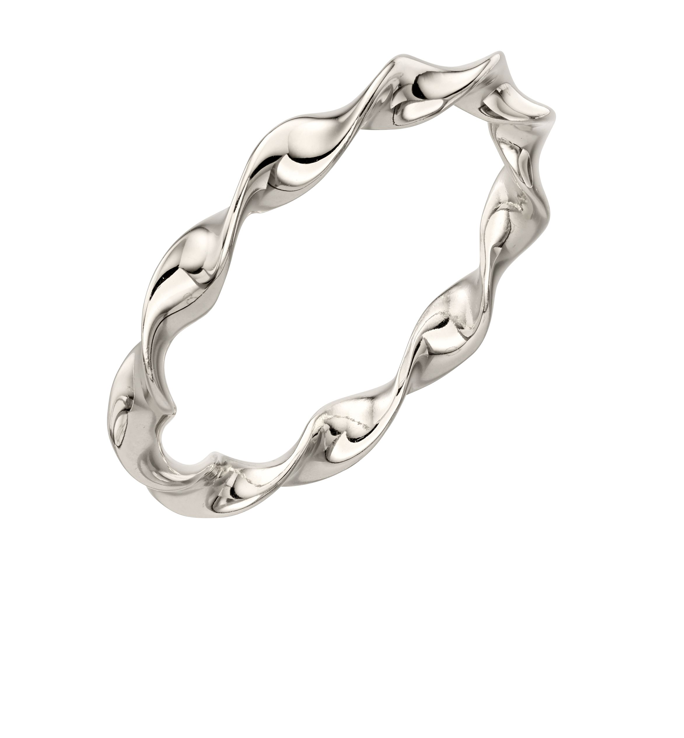 Elements Silver Womens 925 Sterling Silver Twist Band Ring
