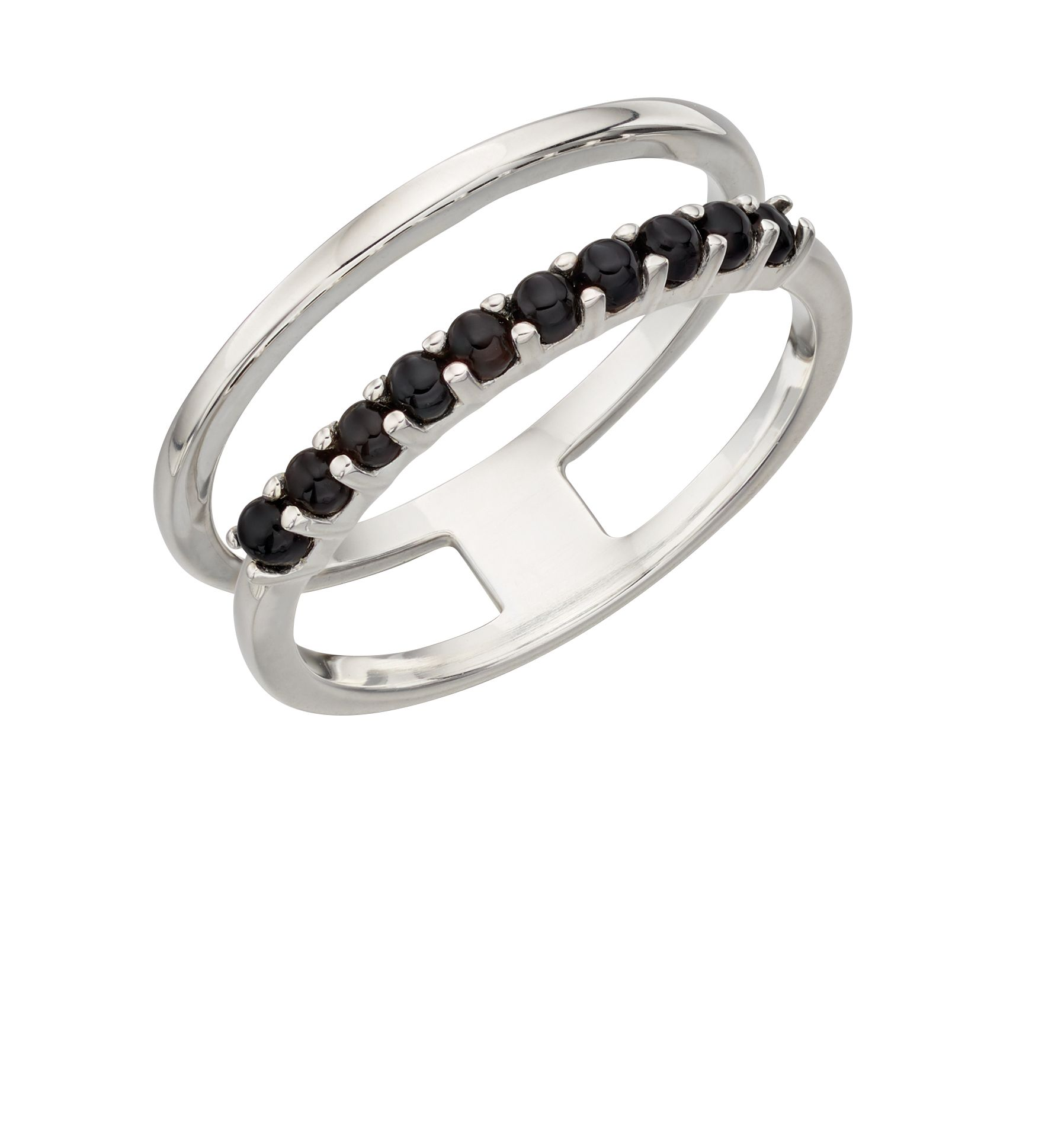 Elements Silver - Women Round Agate Ring