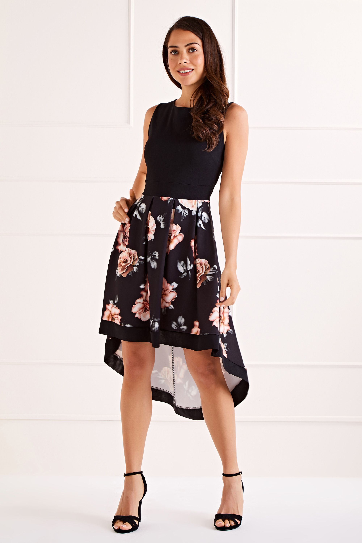 Two Tone High Low Sleeveless Dress