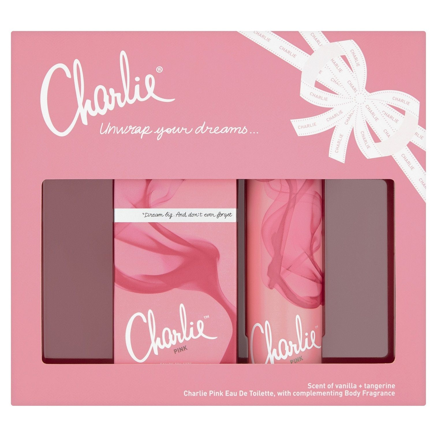 Revlon Charlie Pink Gift Set Eau De Toilette 30Ml And 75Ml Body Spray
