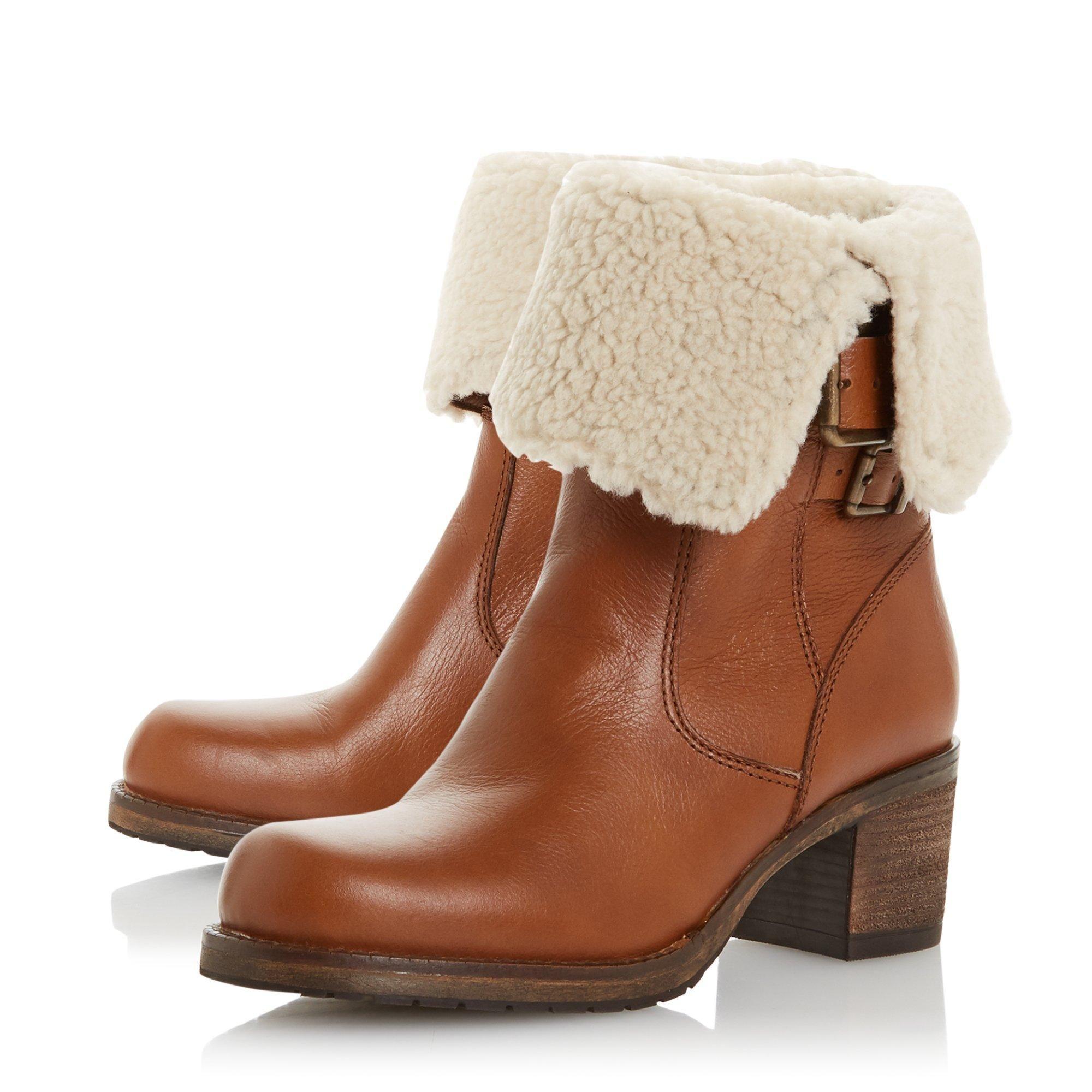 Dune Ladies ROKOKO Borg Collar Calf Boots