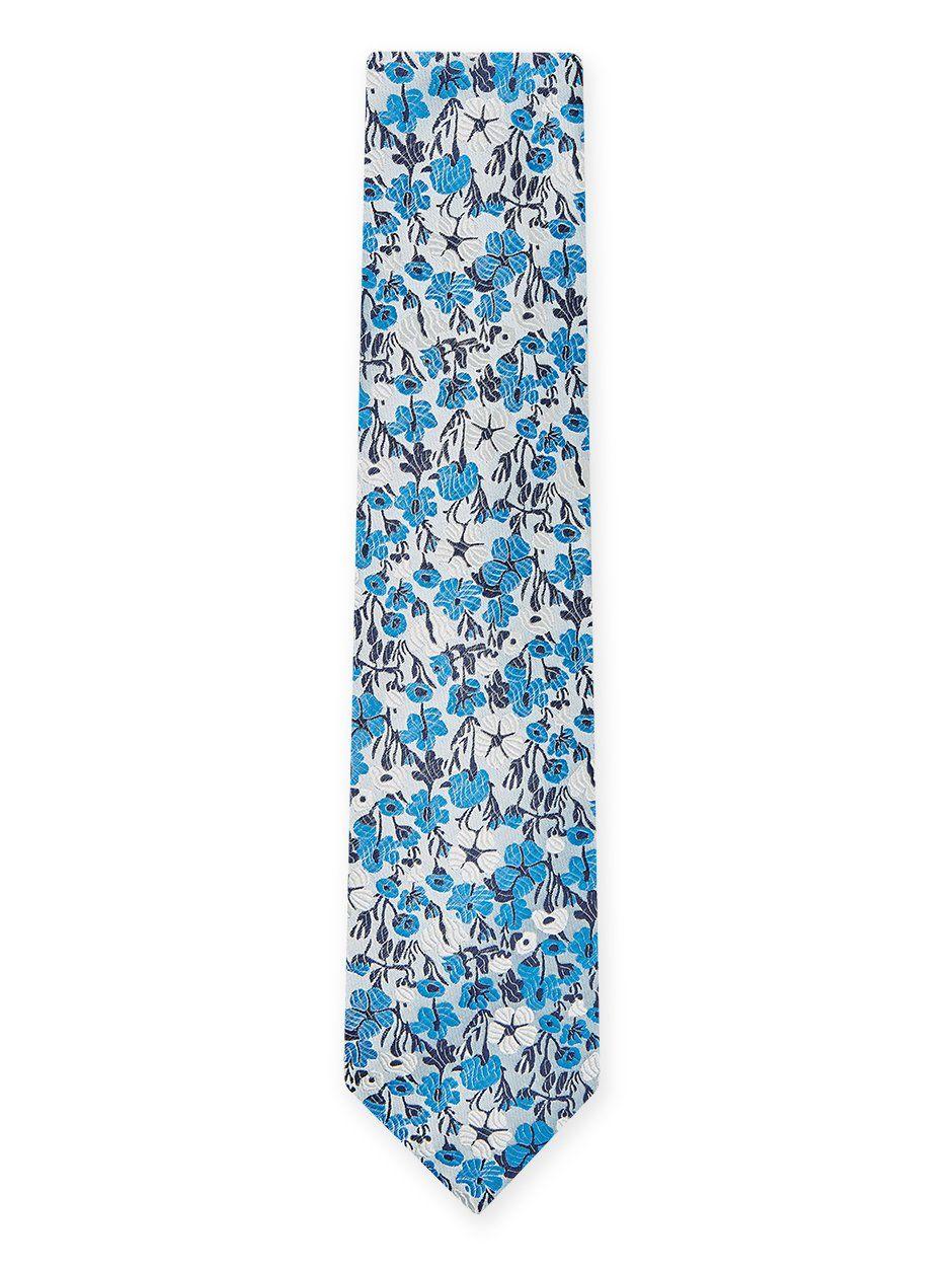 Vespa Floral Tie Blue