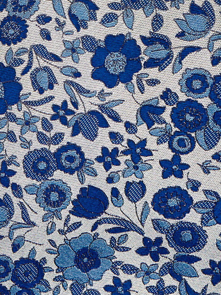 Grace Floral Tie Blue