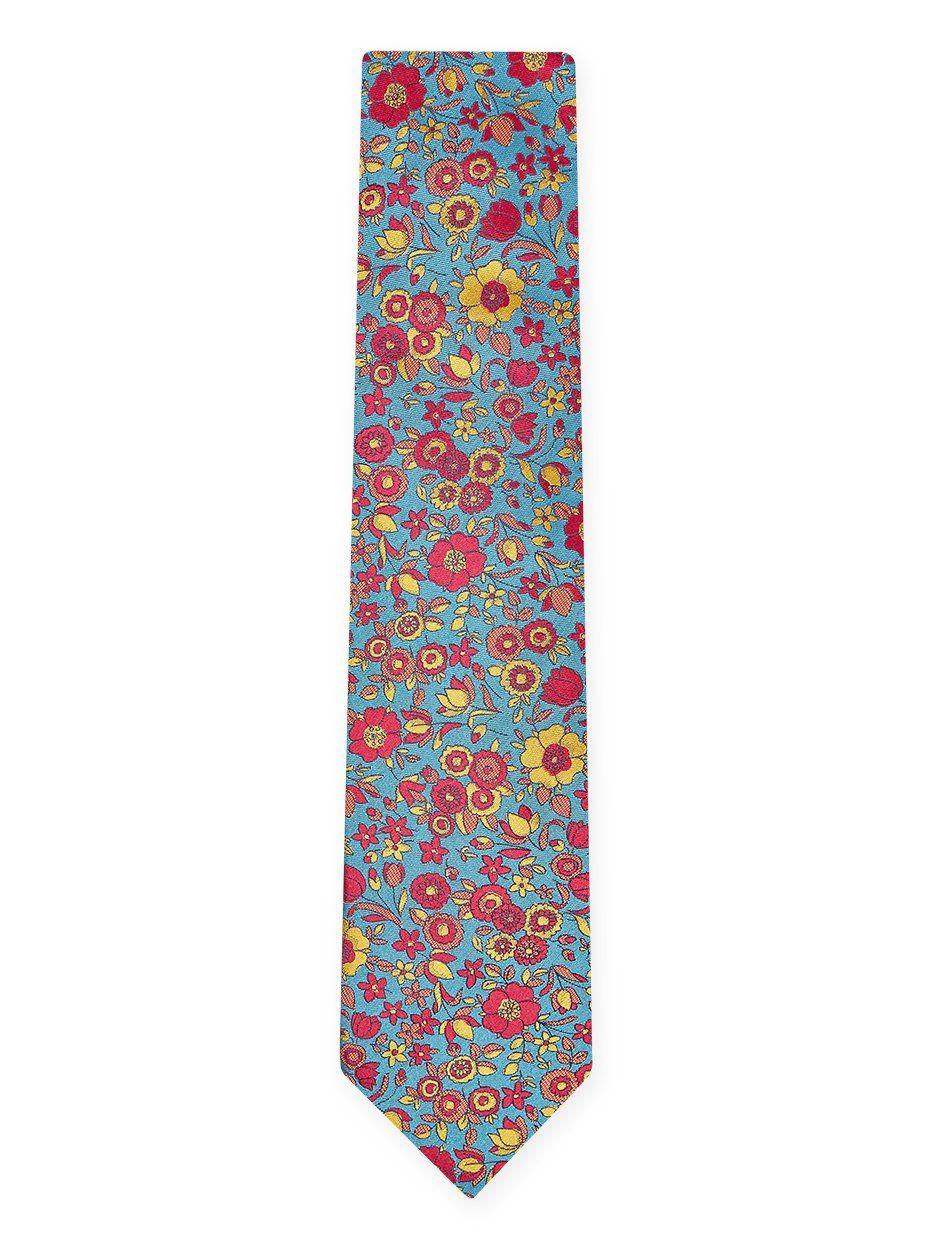 Grace Floral Tie Turquoise