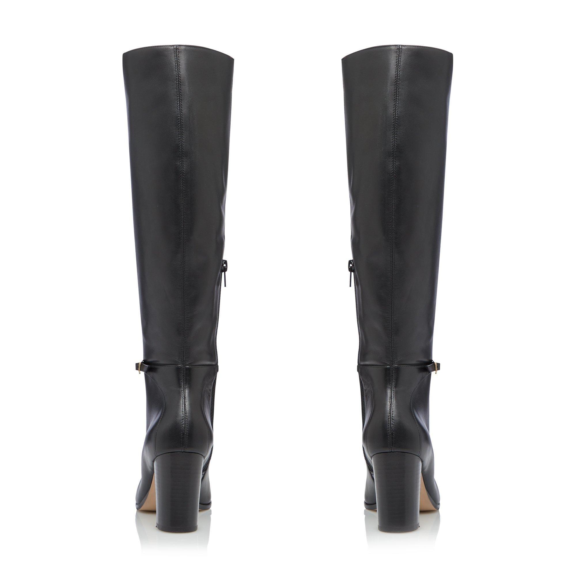Dune Ladies SABAH Slim Buckle Knee High Boots