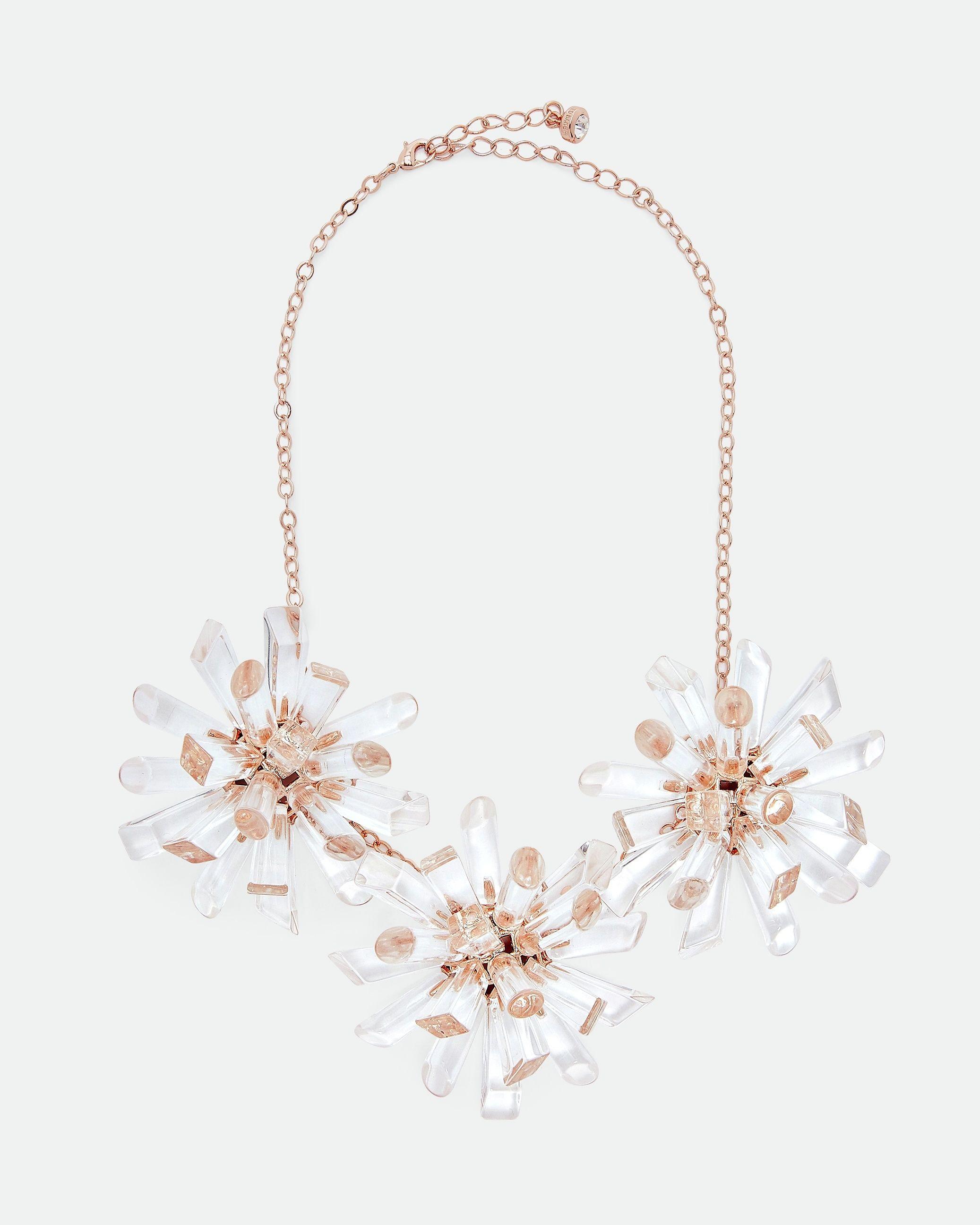 Ted Baker Sadrina Triple Geo Burst Necklace in Clear