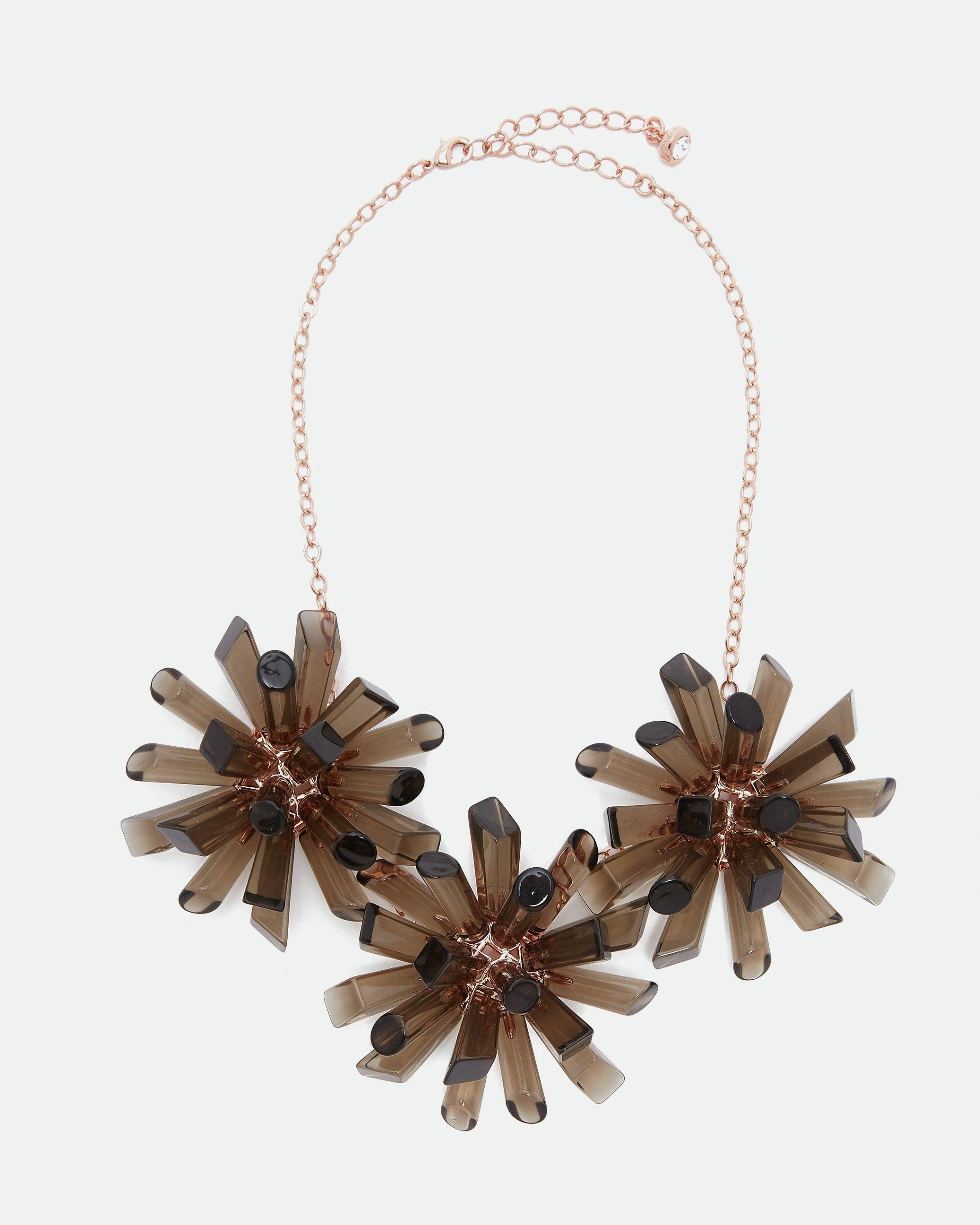 Ted Baker Sadrina Triple Geo Burst Necklace in Black
